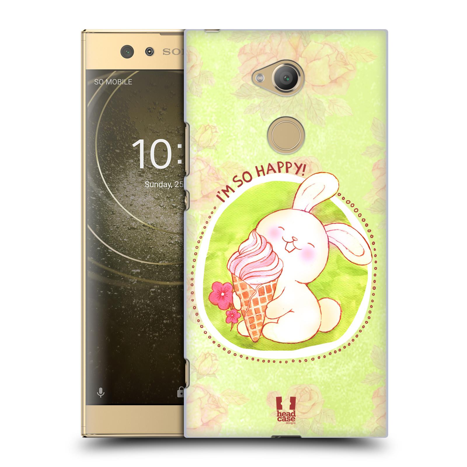 Plastové pouzdro na mobil Sony Xperia XA2 Ultra - Head Case - KRÁLÍČEK A ZMRZKA