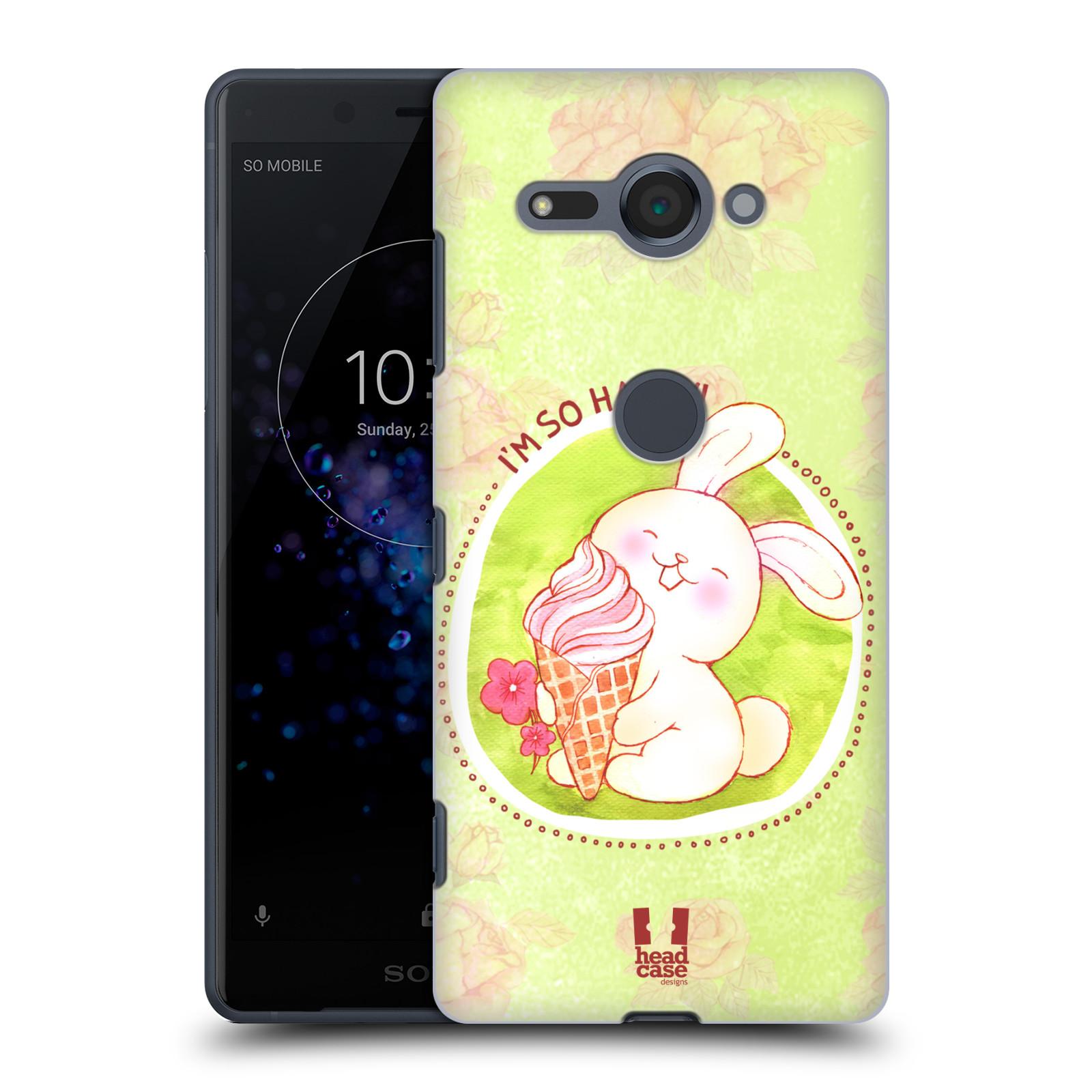 Plastové pouzdro na mobil Sony Xperia XZ2 Compact - Head Case - KRÁLÍČEK A ZMRZKA