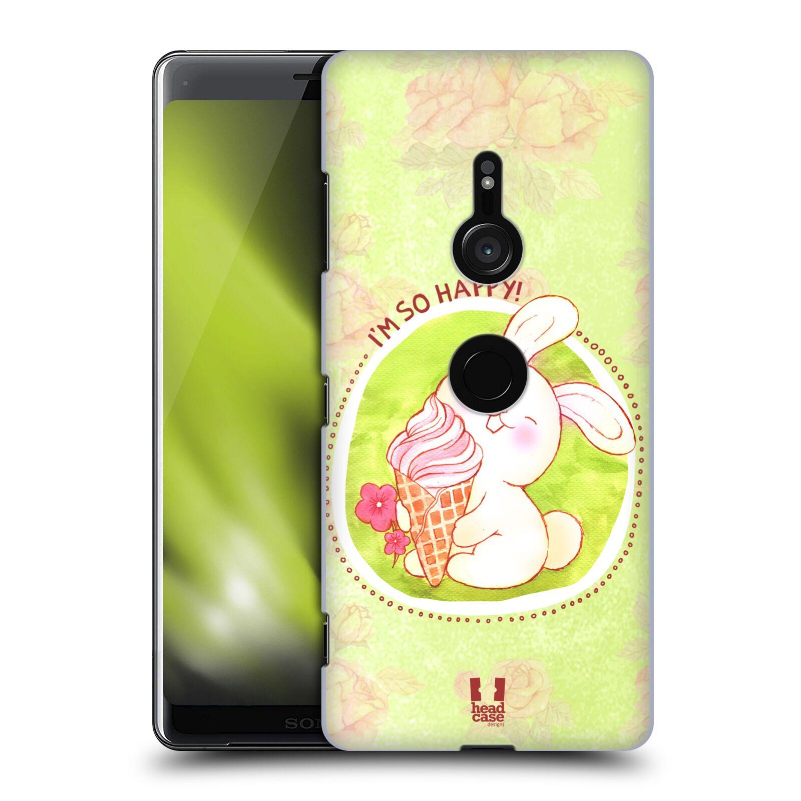 Plastové pouzdro na mobil Sony Xperia XZ3 - Head Case - KRÁLÍČEK A ZMRZKA