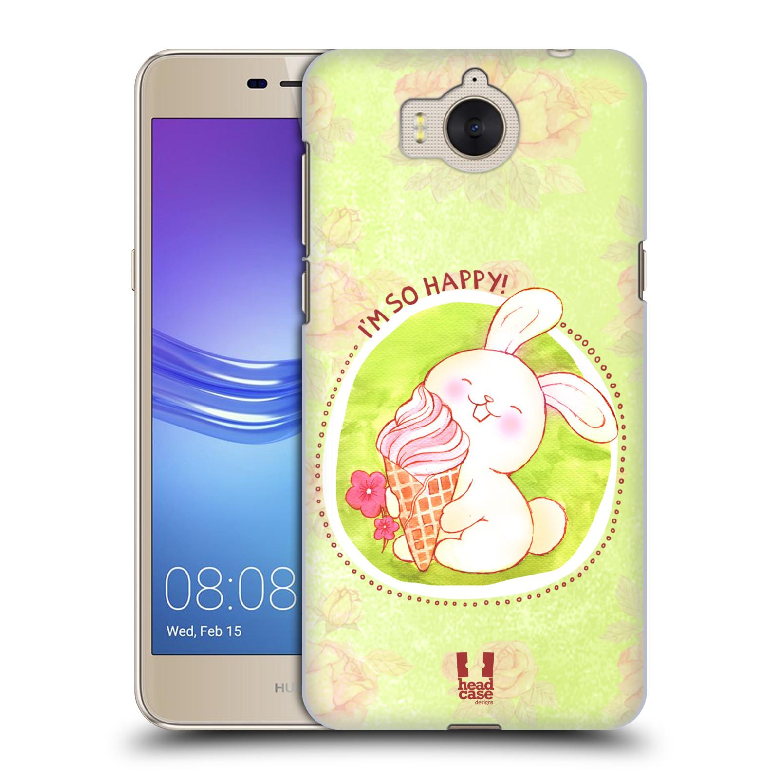 Plastové pouzdro na mobil Huawei Y6 2017 - Head Case - KRÁLÍČEK A ZMRZKA