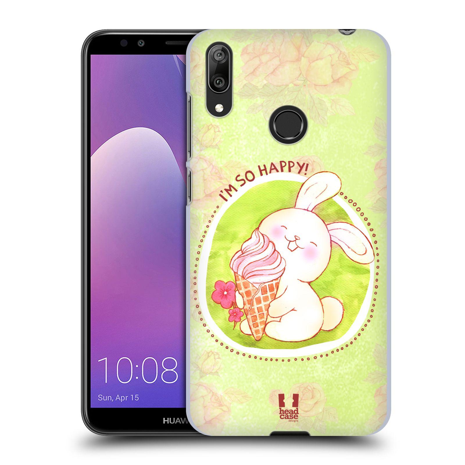 Plastové pouzdro na mobil Huawei Y7 (2019) - Head Case - KRÁLÍČEK A ZMRZKA