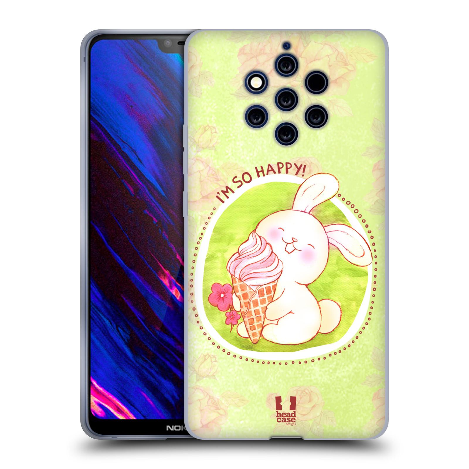 Silikonové pouzdro na mobil Nokia 9 PureView - Head Case - KRÁLÍČEK A ZMRZKA
