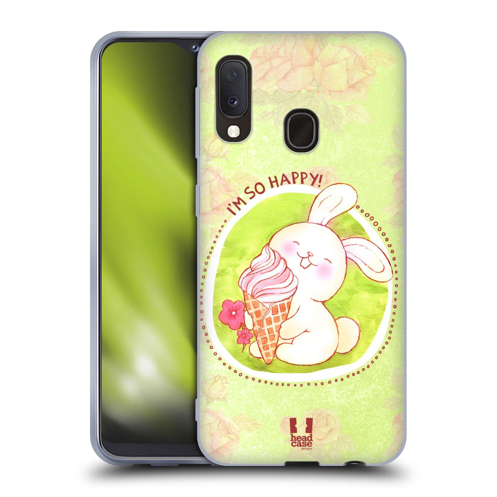 Silikonové pouzdro na mobil Samsung Galaxy A20e - Head Case - KRÁLÍČEK A ZMRZKA