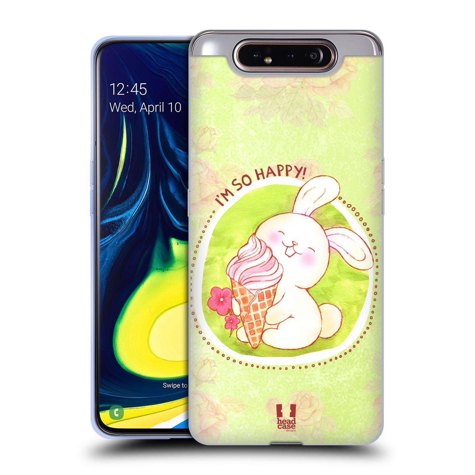 Silikonové pouzdro na mobil Samsung Galaxy A80 - Head Case - KRÁLÍČEK A ZMRZKA