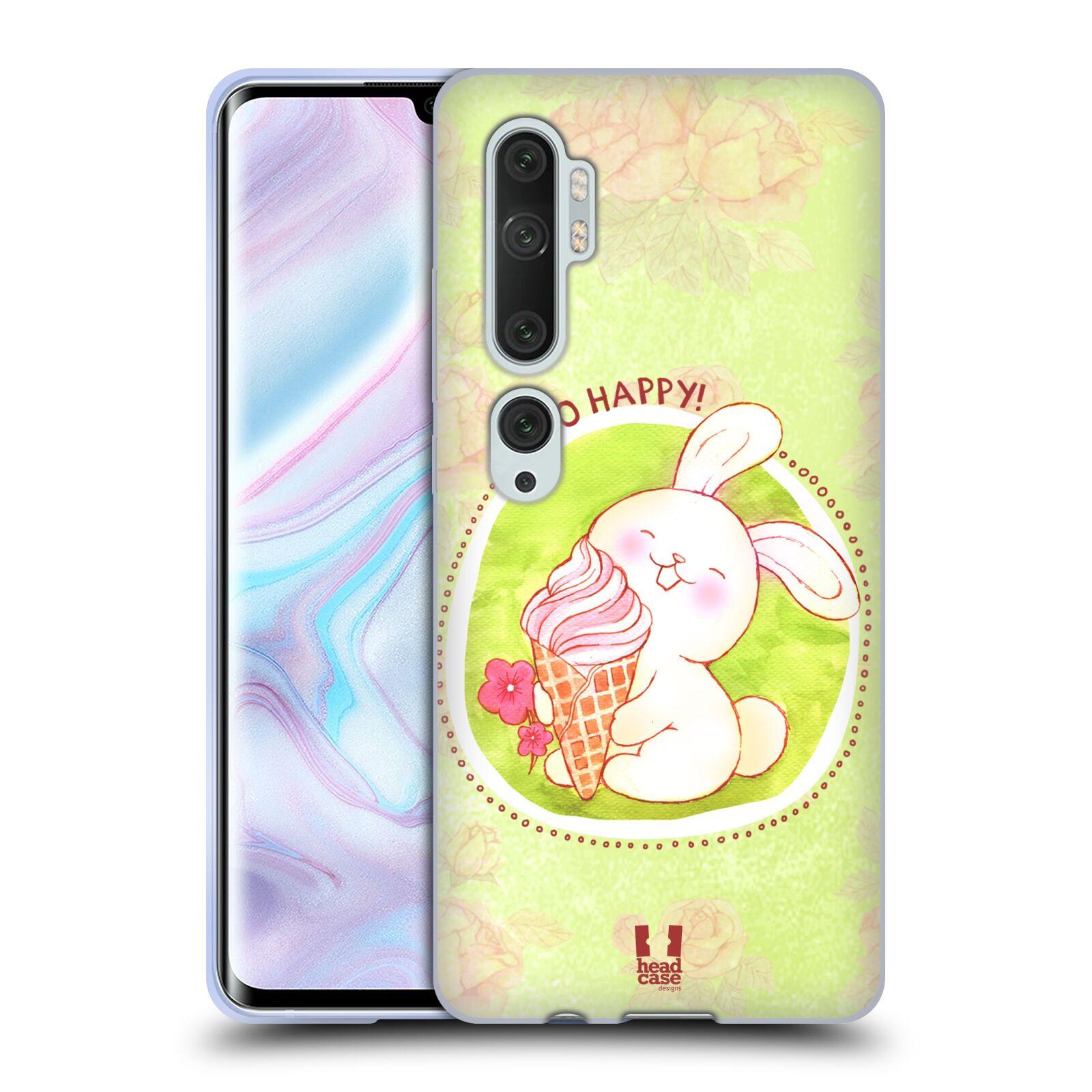 Silikonové pouzdro na mobil Xiaomi Mi Note 10 / 10 Pro - Head Case - KRÁLÍČEK A ZMRZKA