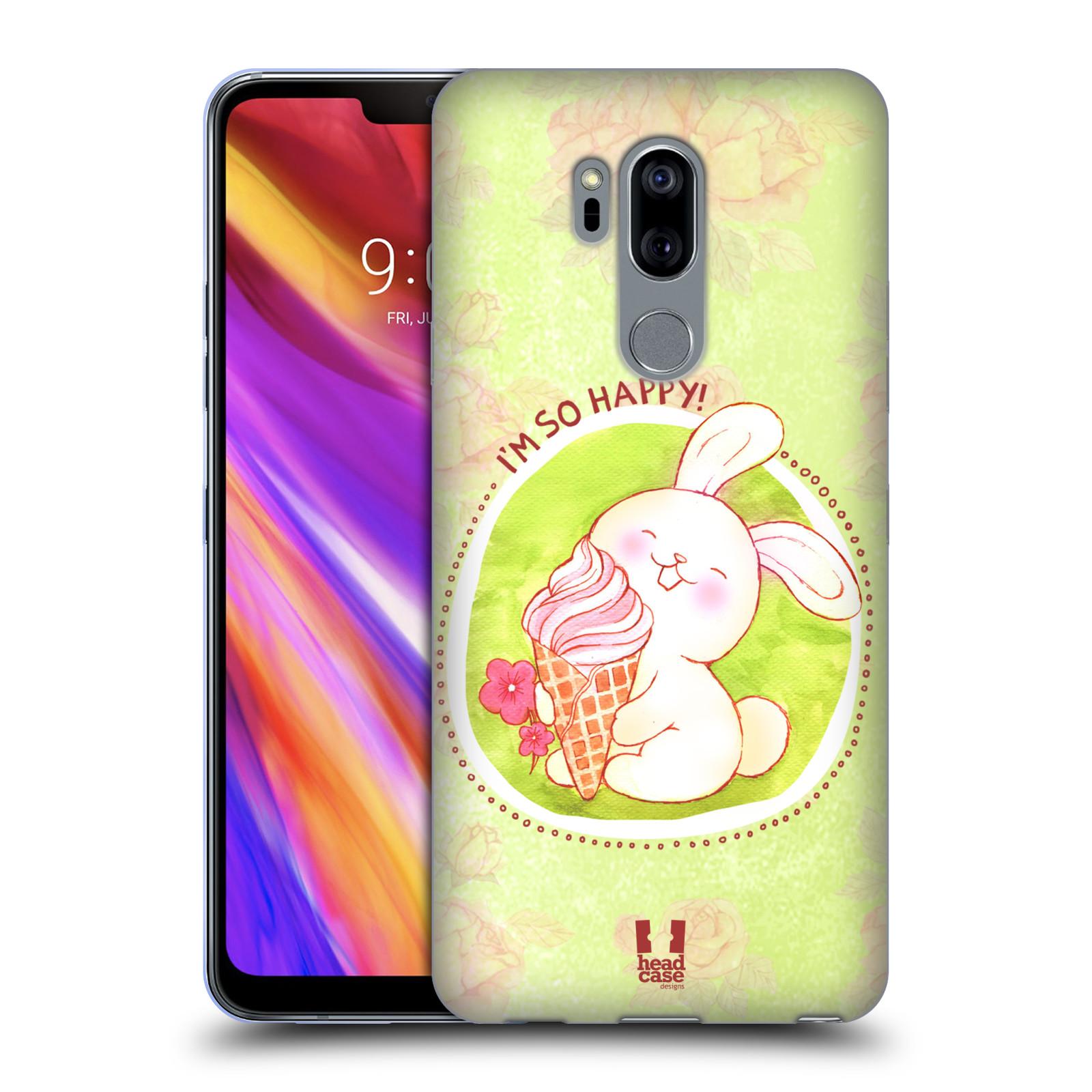 Silikonové pouzdro na mobil LG G7 ThinQ - Head Case - KRÁLÍČEK A ZMRZKA