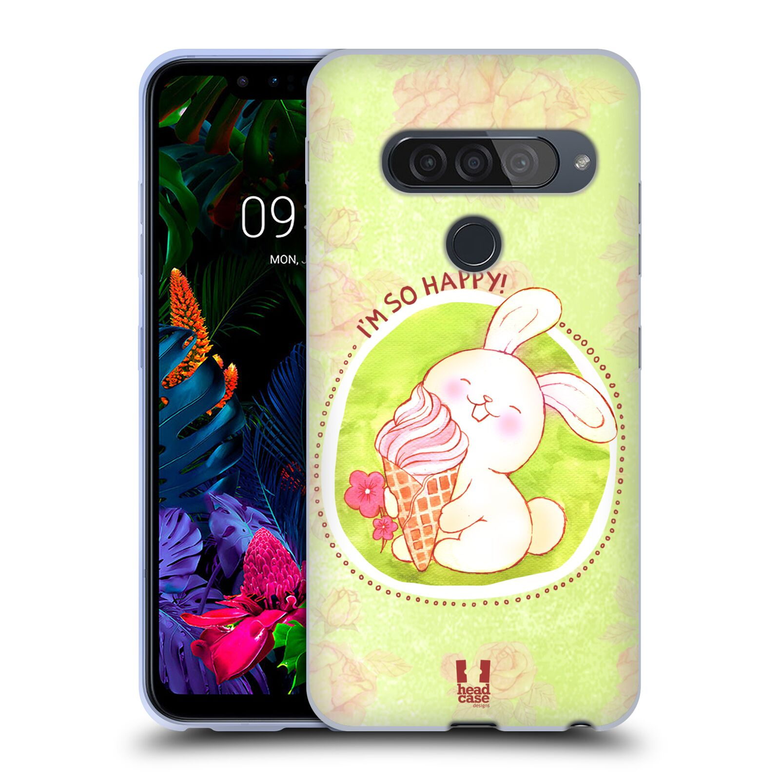 Silikonové pouzdro na mobil LG G8s ThinQ - Head Case - KRÁLÍČEK A ZMRZKA