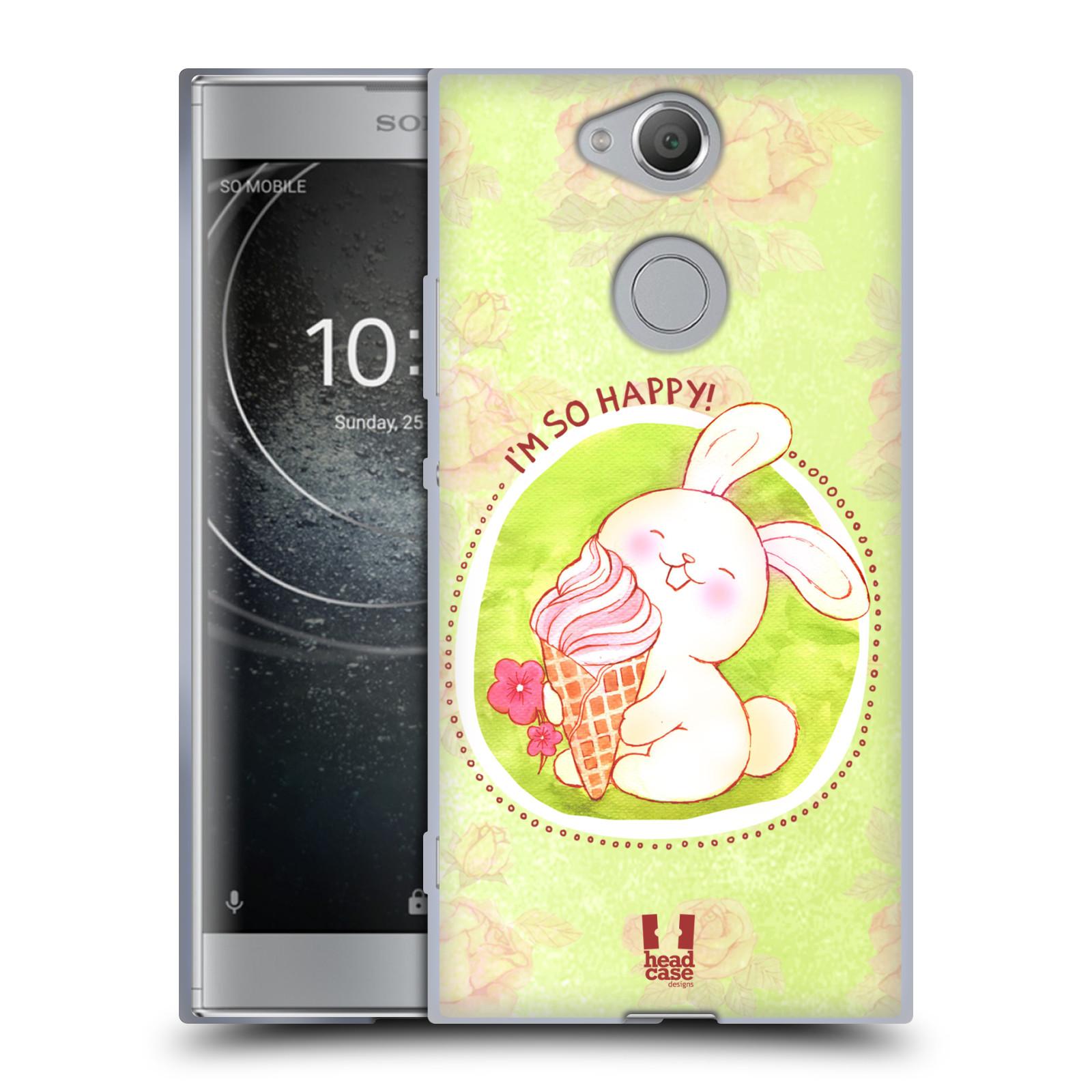 Silikonové pouzdro na mobil Sony Xperia XA2 - Head Case - KRÁLÍČEK A ZMRZKA