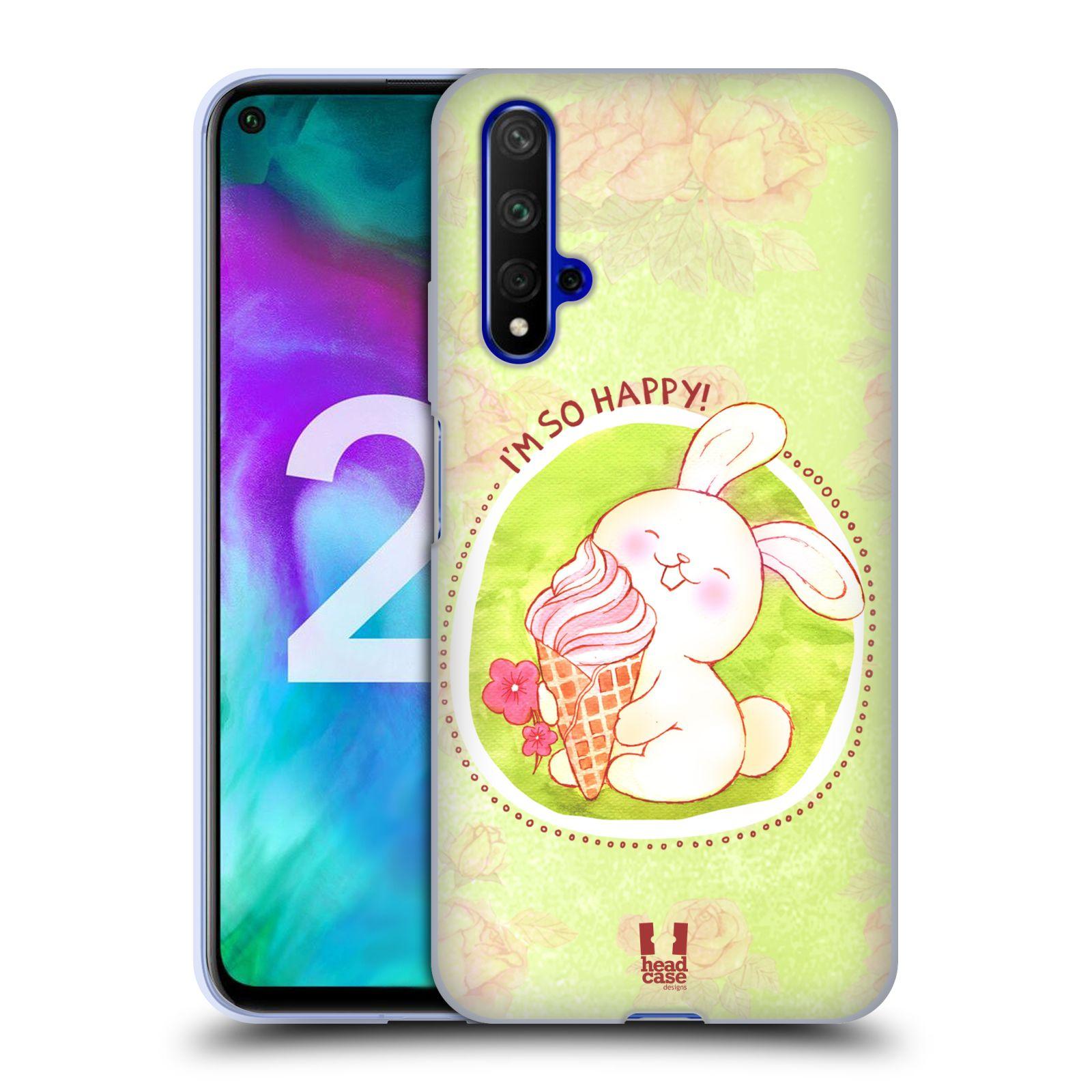 Silikonové pouzdro na mobil Honor 20 - Head Case - KRÁLÍČEK A ZMRZKA