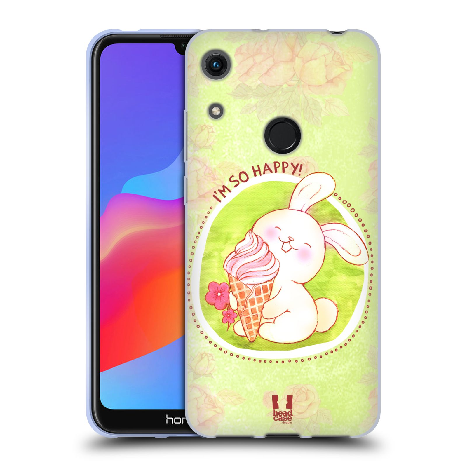 Silikonové pouzdro na mobil Honor 8A - Head Case - KRÁLÍČEK A ZMRZKA
