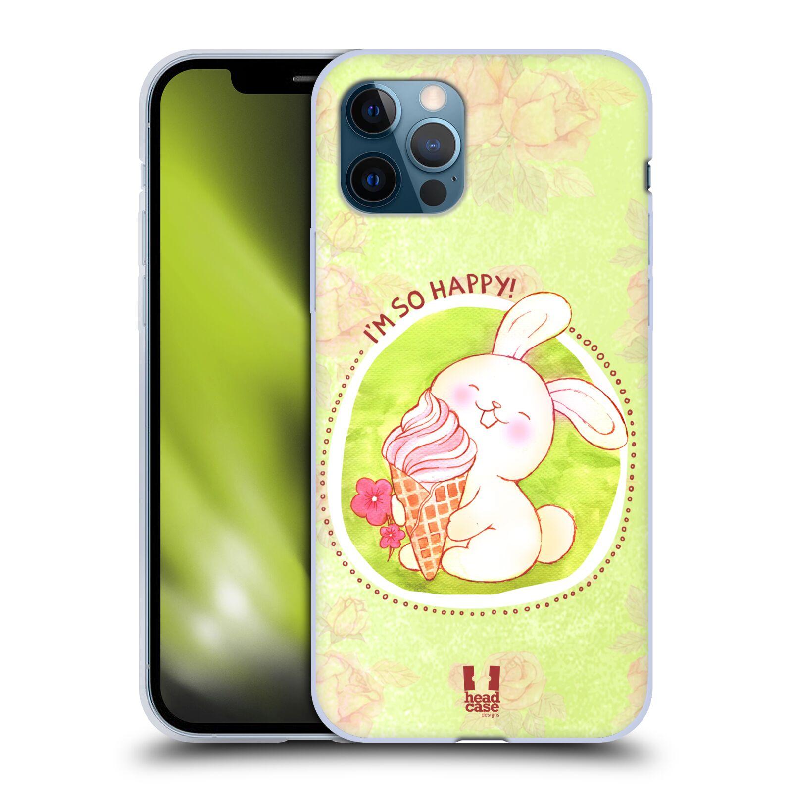 Silikonové pouzdro na mobil Apple iPhone 12 / 12 Pro - Head Case - KRÁLÍČEK A ZMRZKA