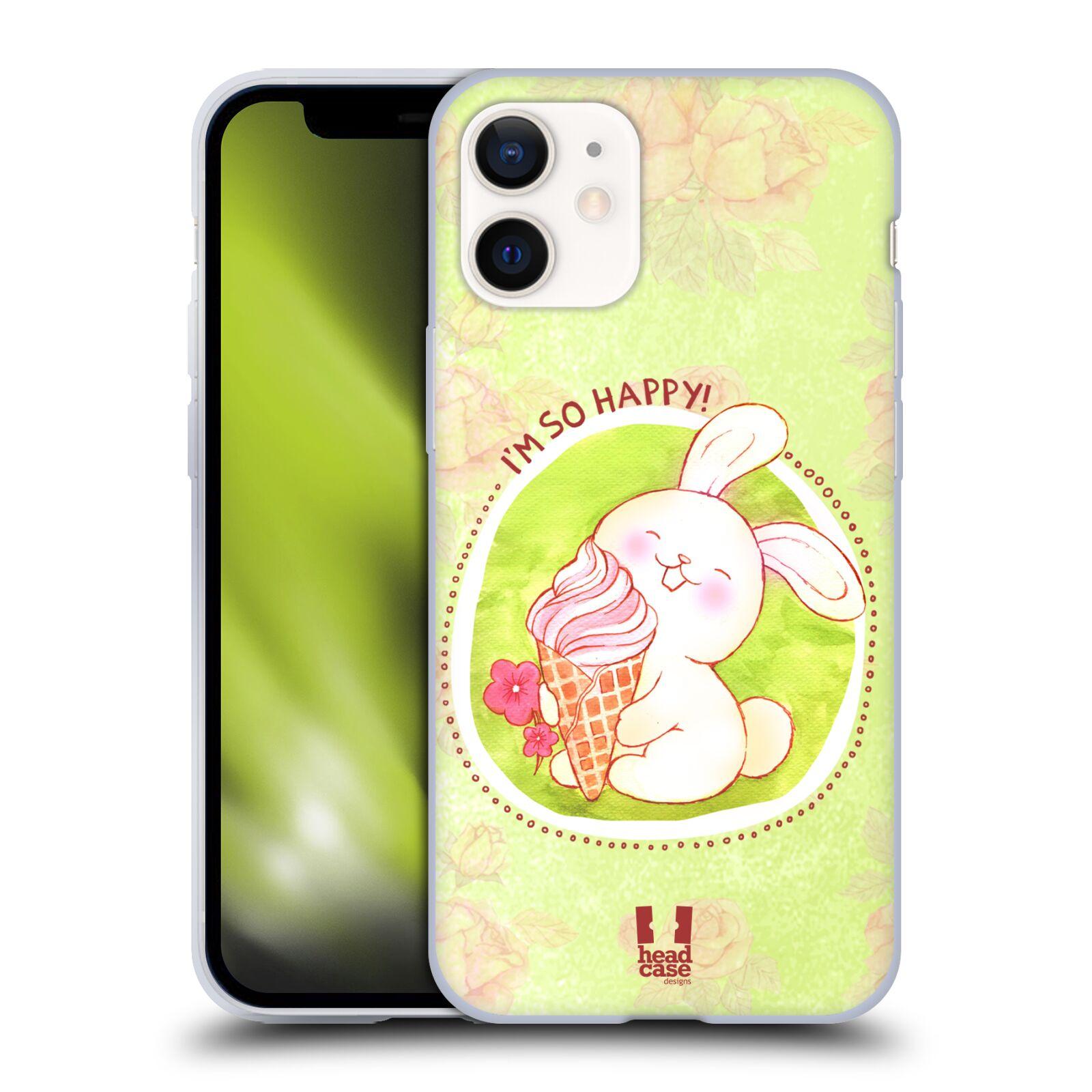 Silikonové pouzdro na mobil Apple iPhone 12 Mini - Head Case - KRÁLÍČEK A ZMRZKA