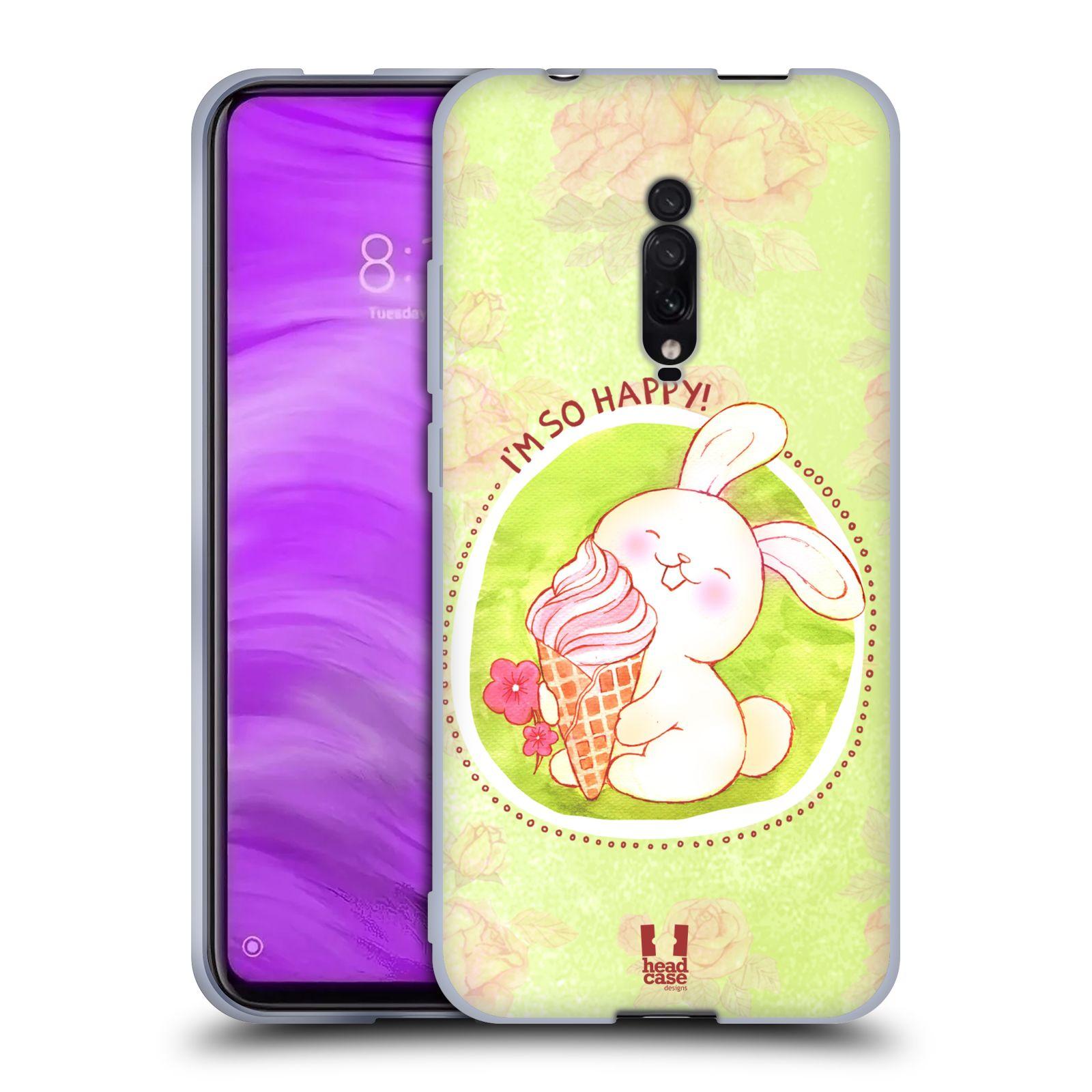 Silikonové pouzdro na mobil Xiaomi Mi 9T - Head Case - KRÁLÍČEK A ZMRZKA