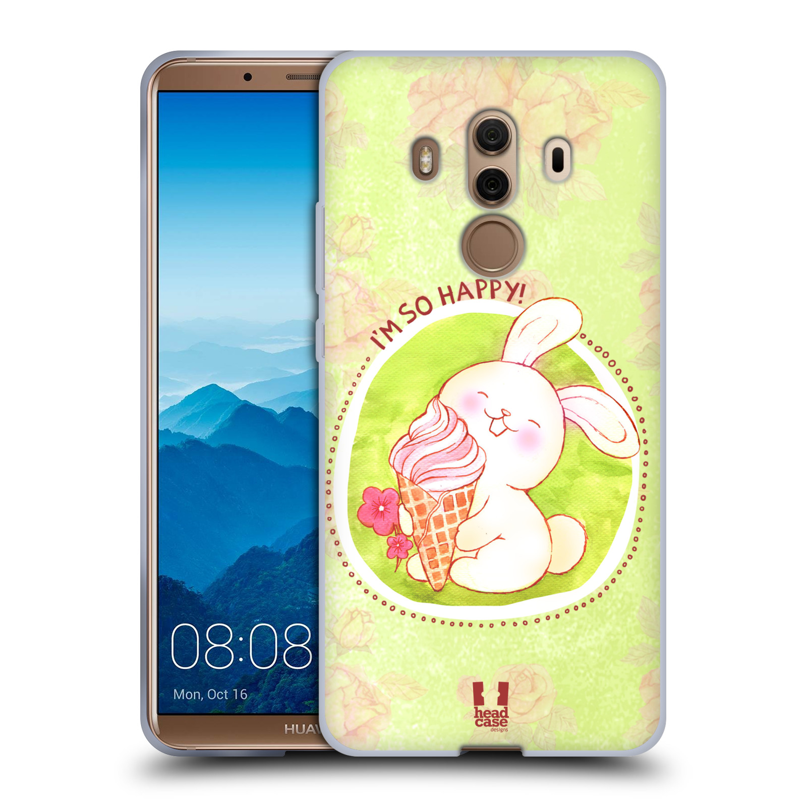 Silikonové pouzdro na mobil Huawei Mate 10 Pro - Head Case - KRÁLÍČEK A ZMRZKA