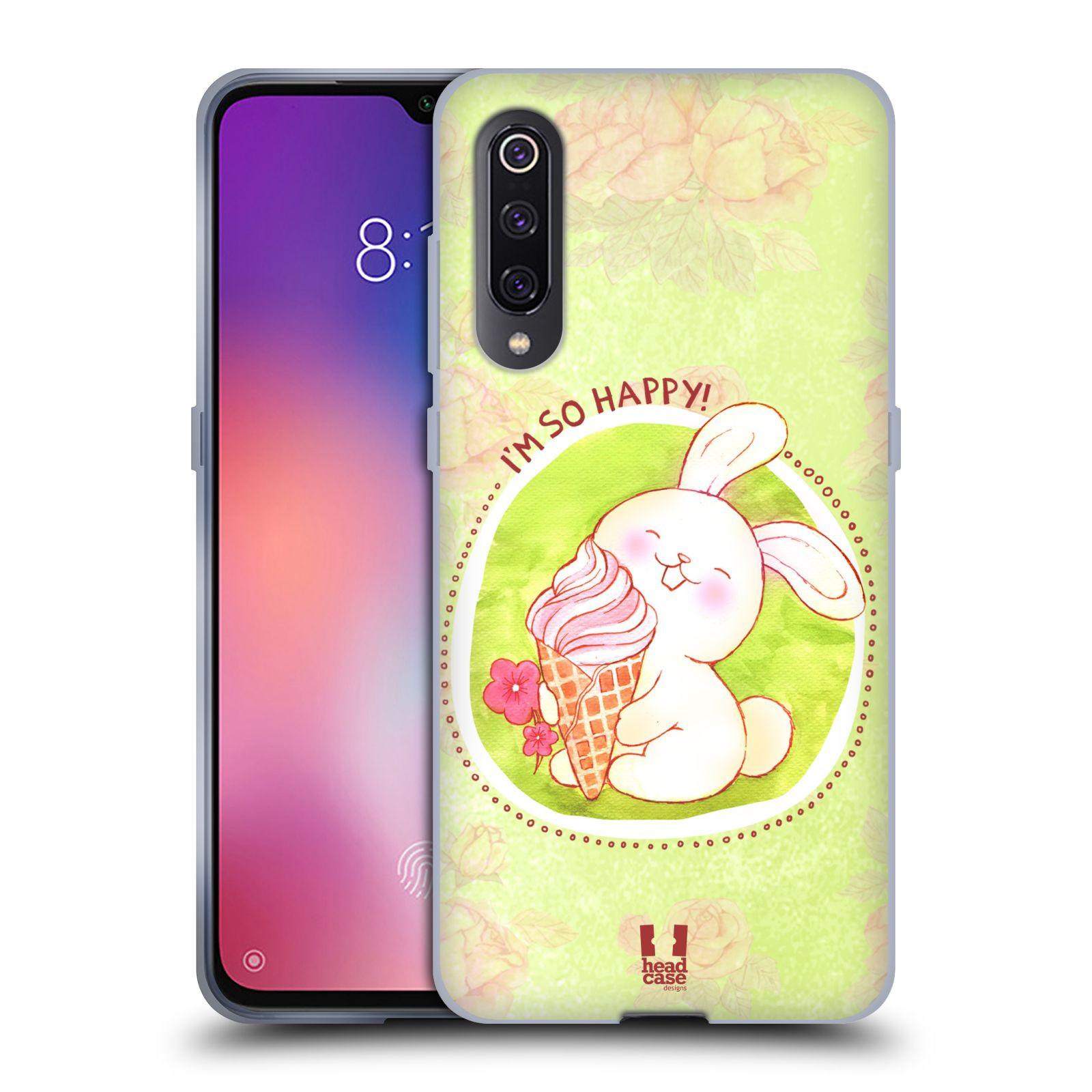 Silikonové pouzdro na mobil Xiaomi Mi 9 - Head Case - KRÁLÍČEK A ZMRZKA