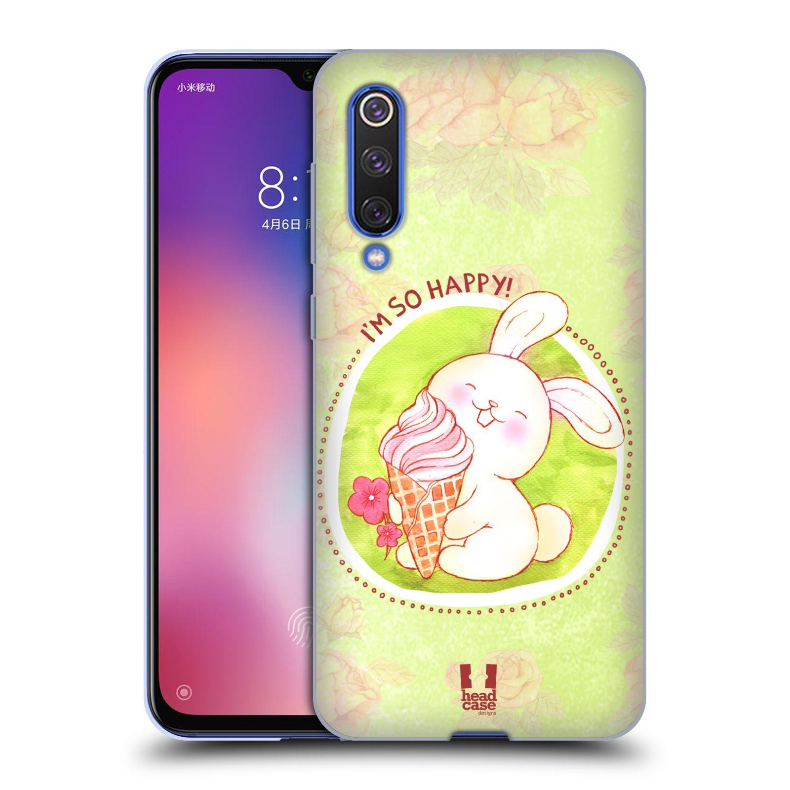 Silikonové pouzdro na mobil Xiaomi Mi 9 SE - Head Case - KRÁLÍČEK A ZMRZKA