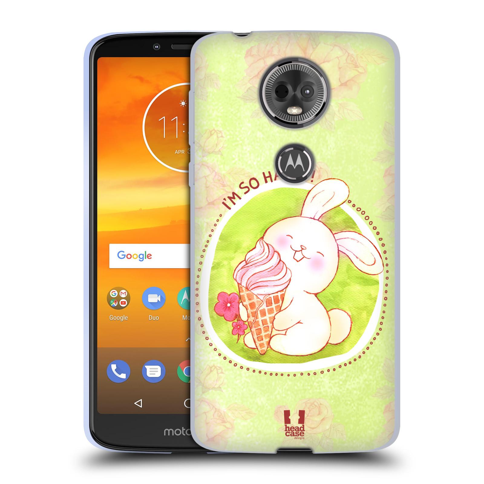 Silikonové pouzdro na mobil Motorola Moto E5 Plus - Head Case - KRÁLÍČEK A ZMRZKA
