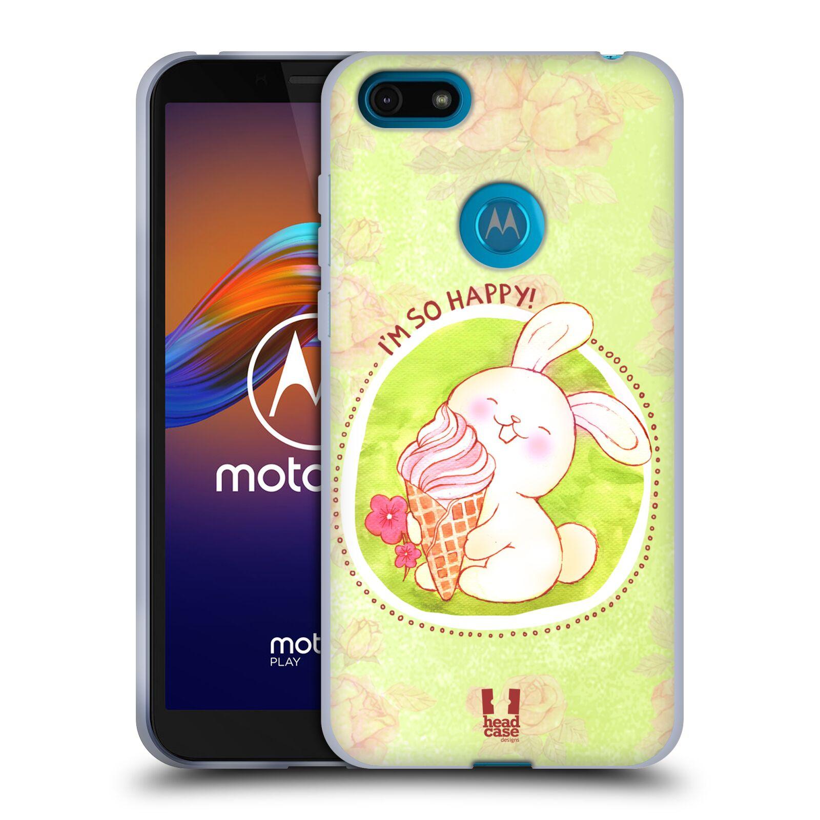 Silikonové pouzdro na mobil Motorola Moto E6 Play - Head Case - KRÁLÍČEK A ZMRZKA