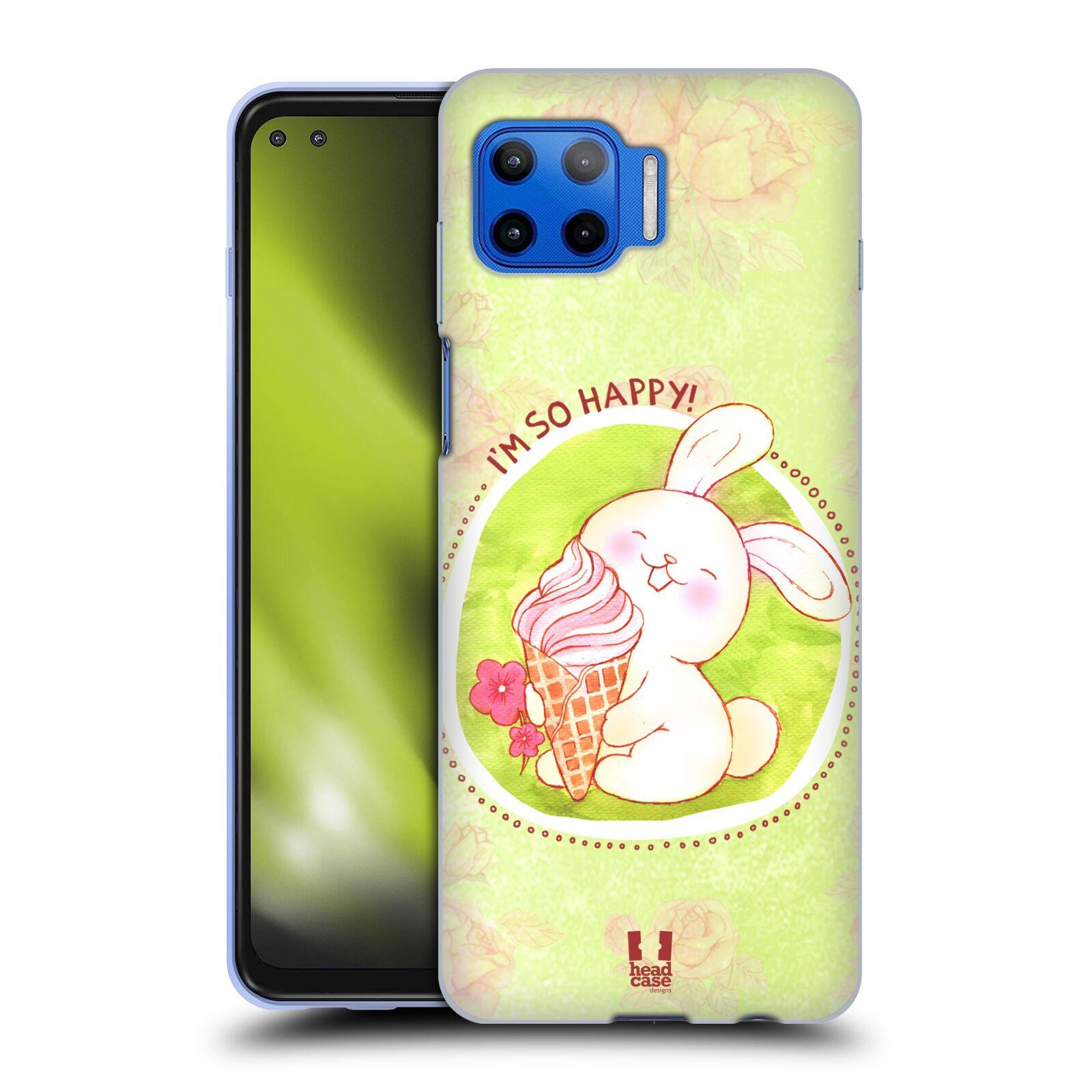 Silikonové pouzdro na mobil Motorola Moto G 5G Plus - Head Case - KRÁLÍČEK A ZMRZKA