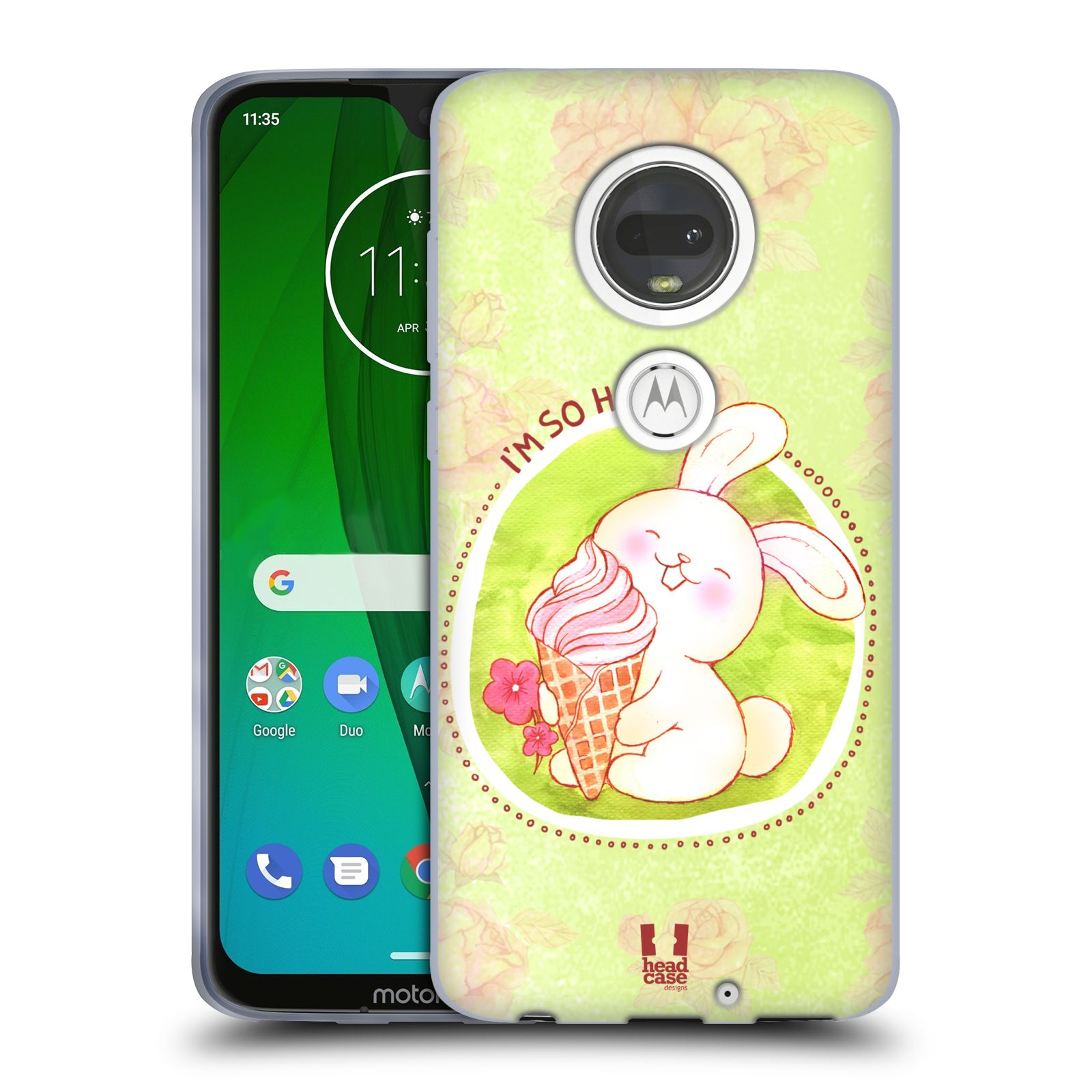 Silikonové pouzdro na mobil Motorola Moto G7 - Head Case - KRÁLÍČEK A ZMRZKA