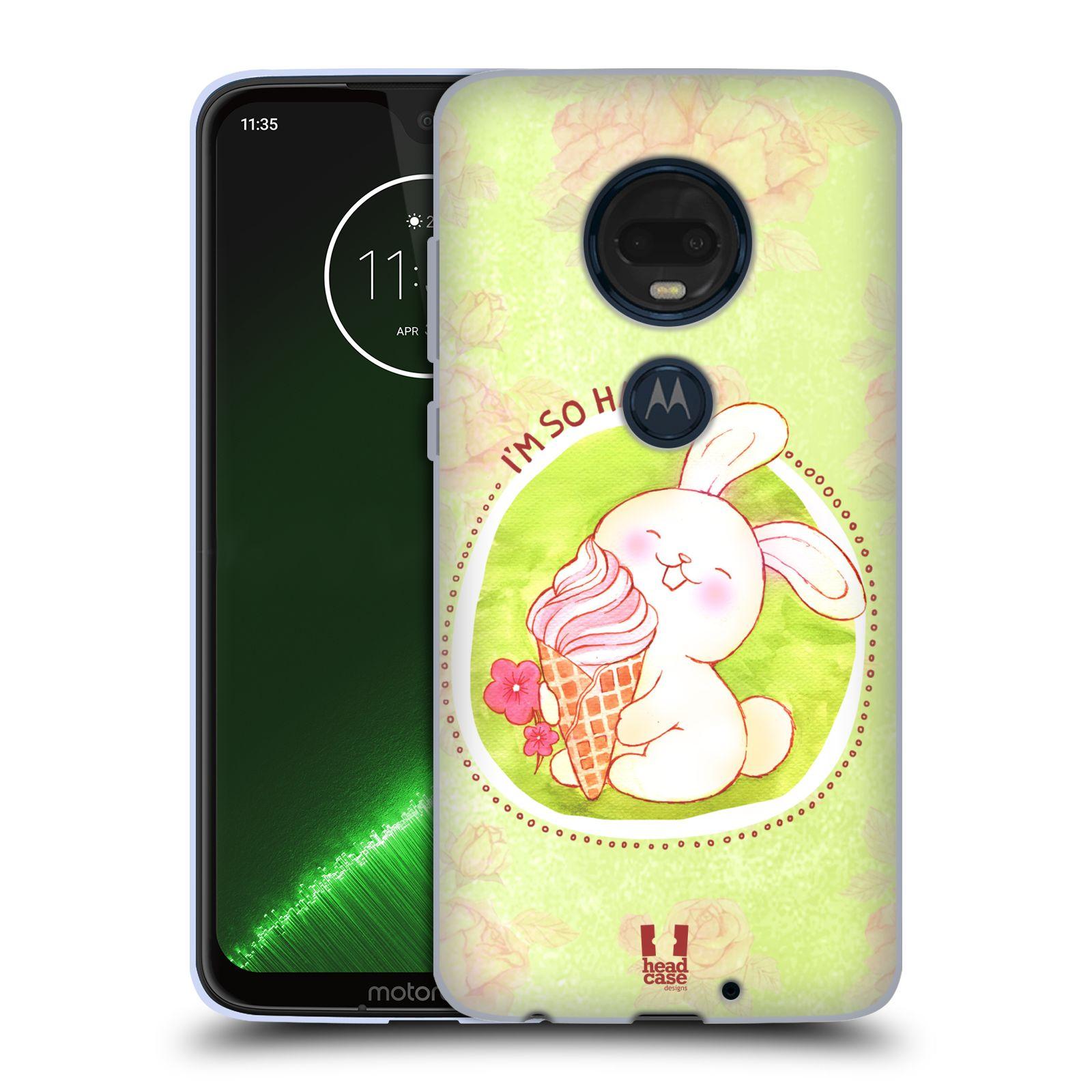 Silikonové pouzdro na mobil Motorola Moto G7 Plus - Head Case - KRÁLÍČEK A ZMRZKA