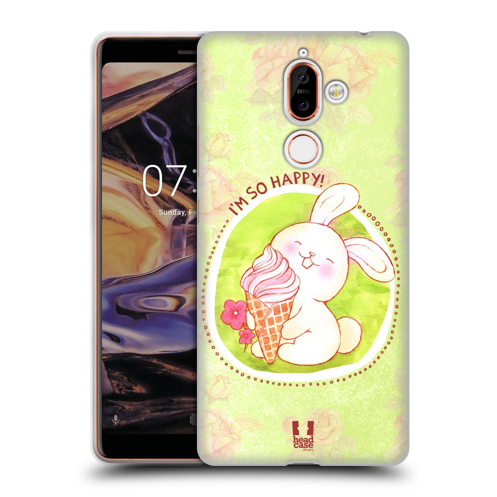 Silikonové pouzdro na mobil Nokia 7 Plus - Head Case - KRÁLÍČEK A ZMRZKA
