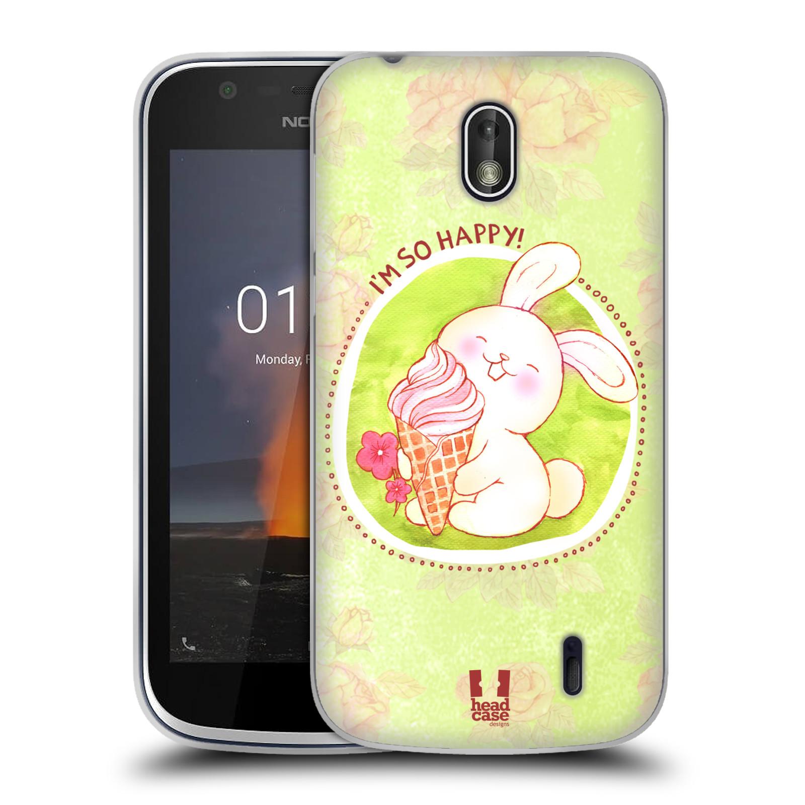 Silikonové pouzdro na mobil Nokia 1 - Head Case - KRÁLÍČEK A ZMRZKA