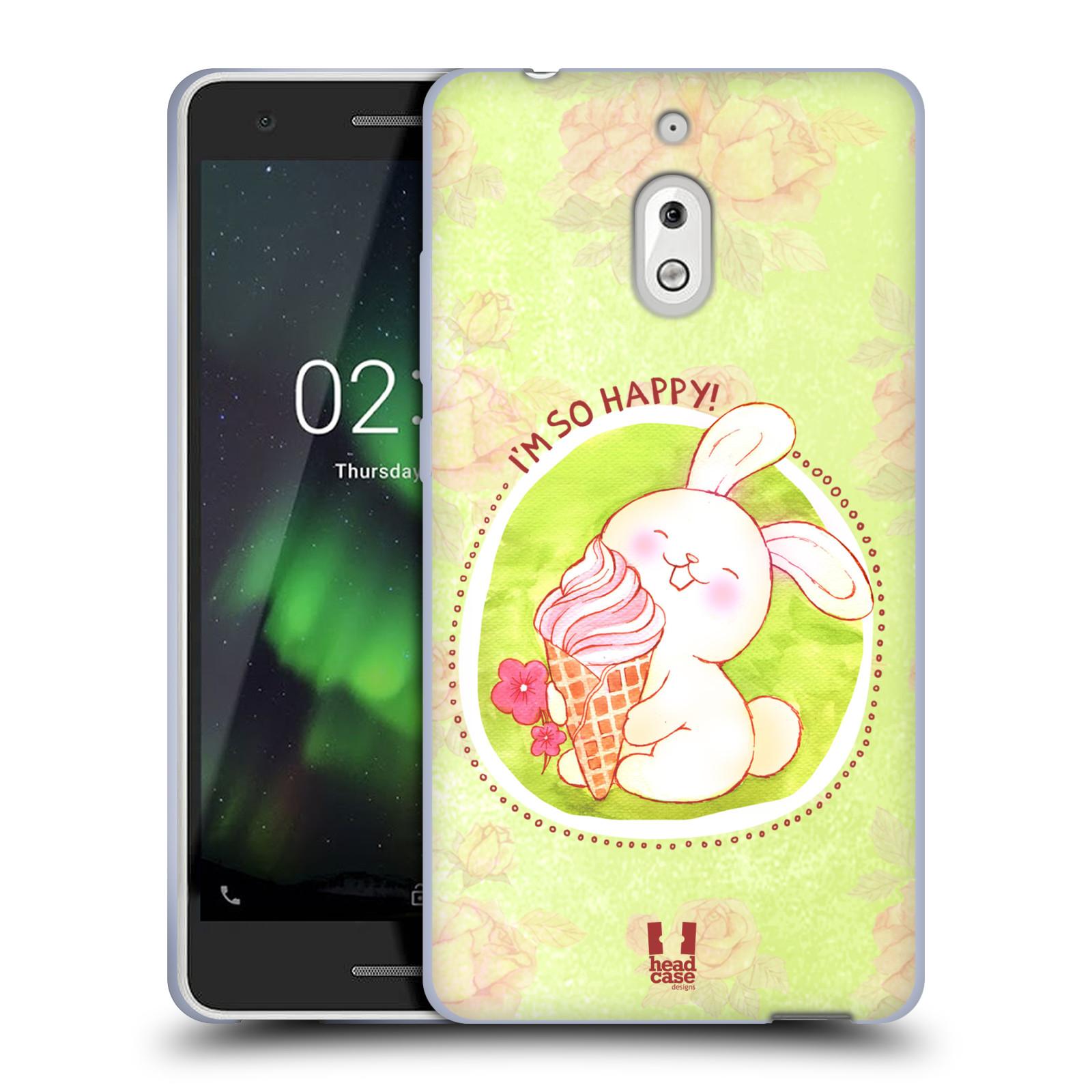 Silikonové pouzdro na mobil Nokia 2.1 - Head Case - KRÁLÍČEK A ZMRZKA