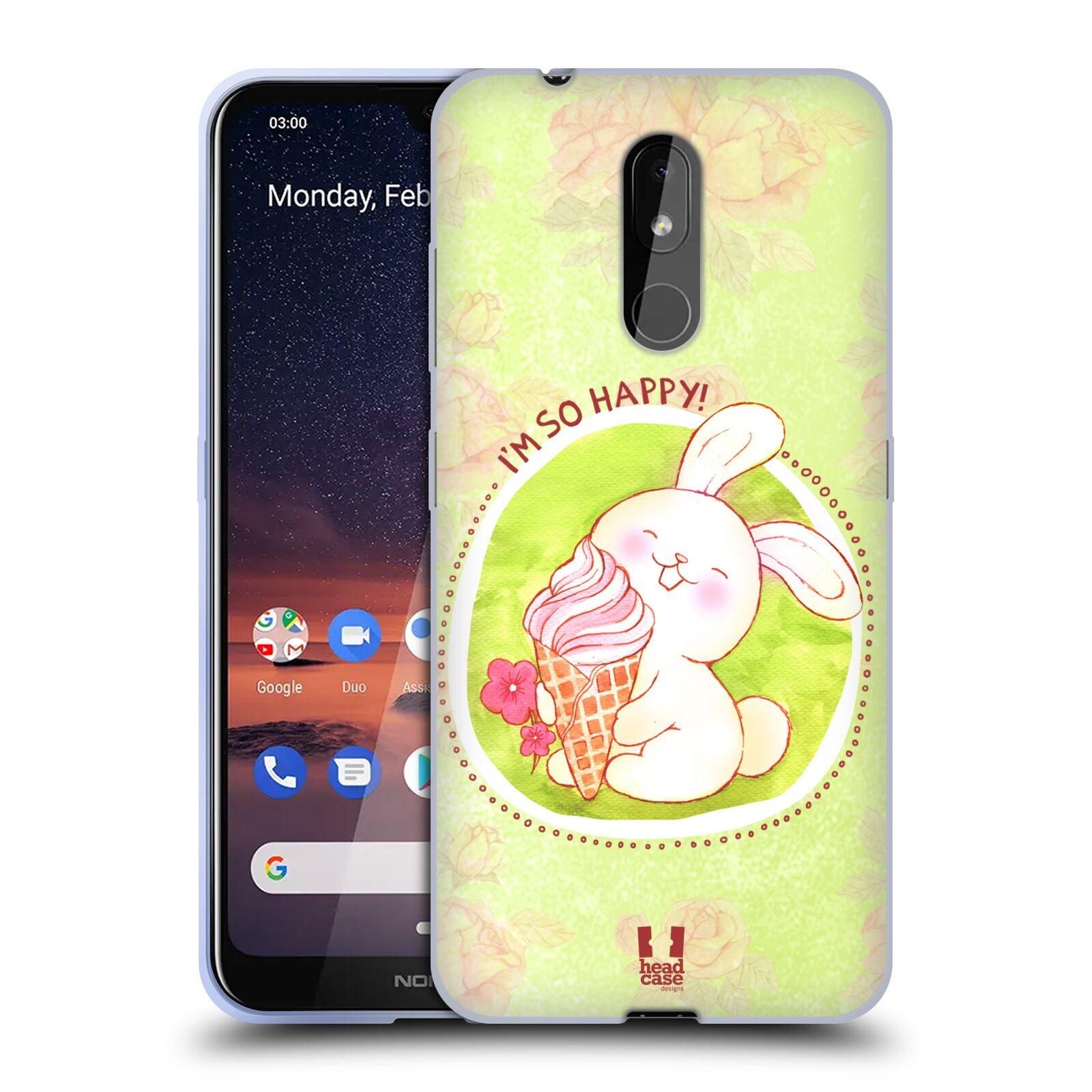 Silikonové pouzdro na mobil Nokia 3.2 - Head Case - KRÁLÍČEK A ZMRZKA