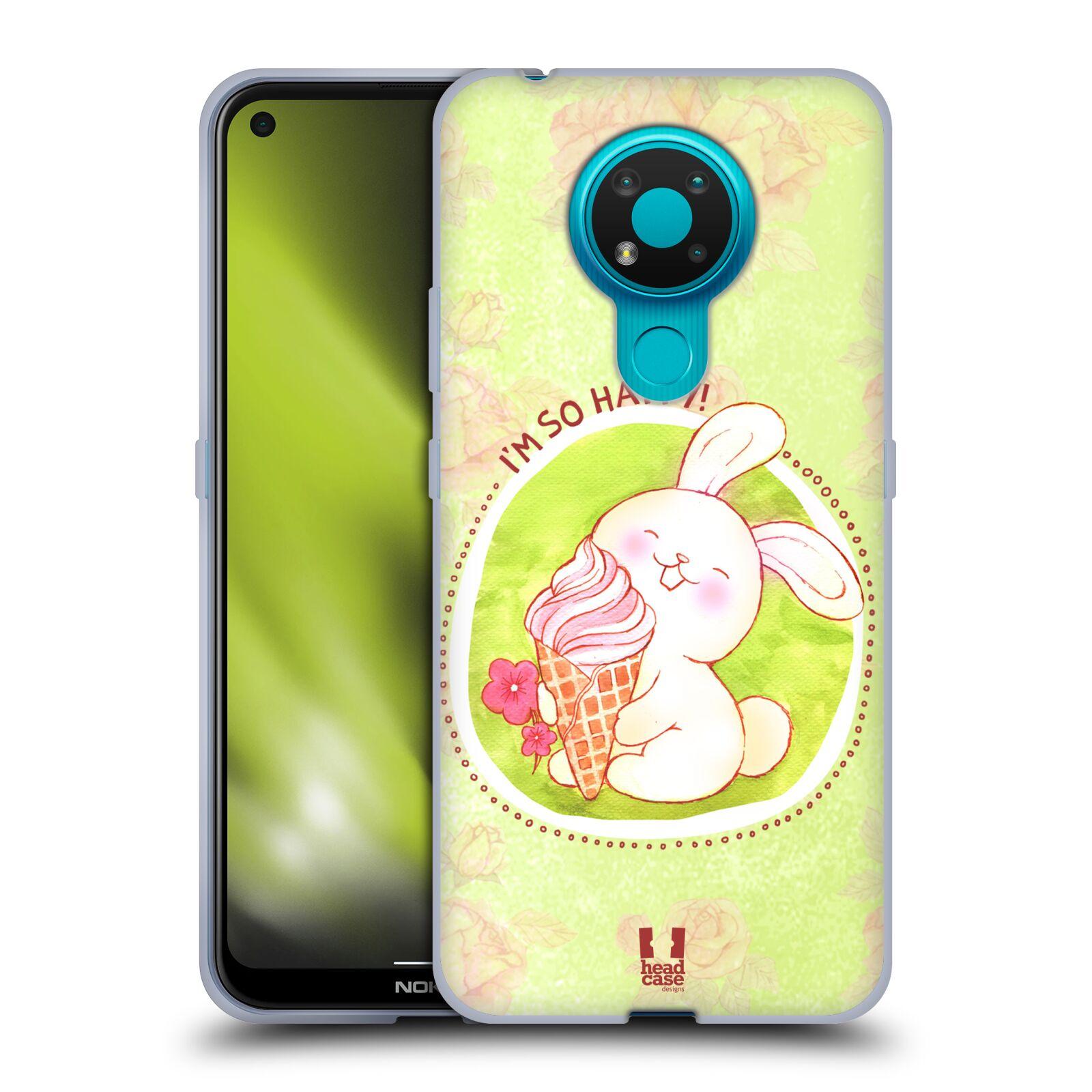 Silikonové pouzdro na mobil Nokia 3.4 - Head Case - KRÁLÍČEK A ZMRZKA