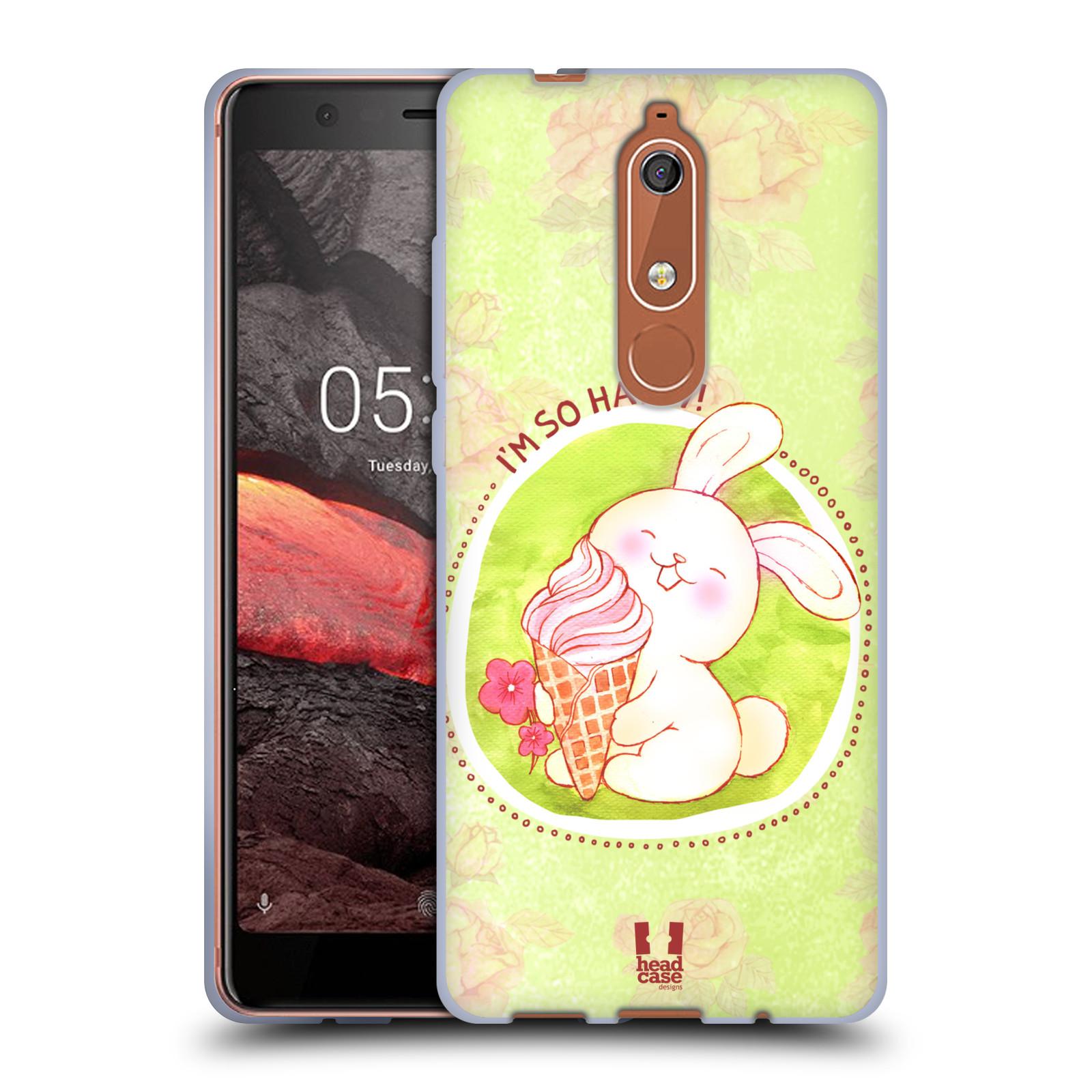 Silikonové pouzdro na mobil Nokia 5.1 - Head Case - KRÁLÍČEK A ZMRZKA