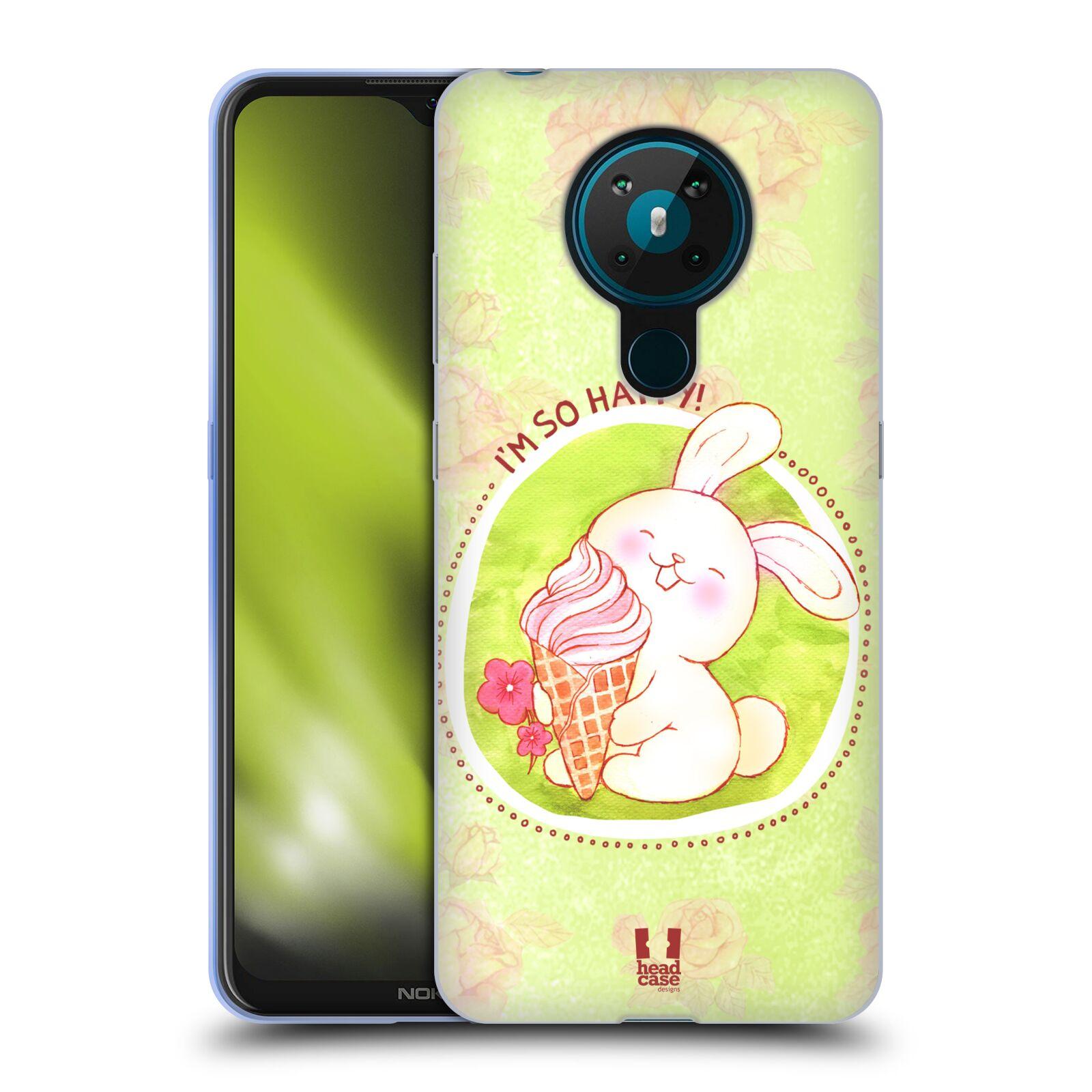 Silikonové pouzdro na mobil Nokia 5.3 - Head Case - KRÁLÍČEK A ZMRZKA