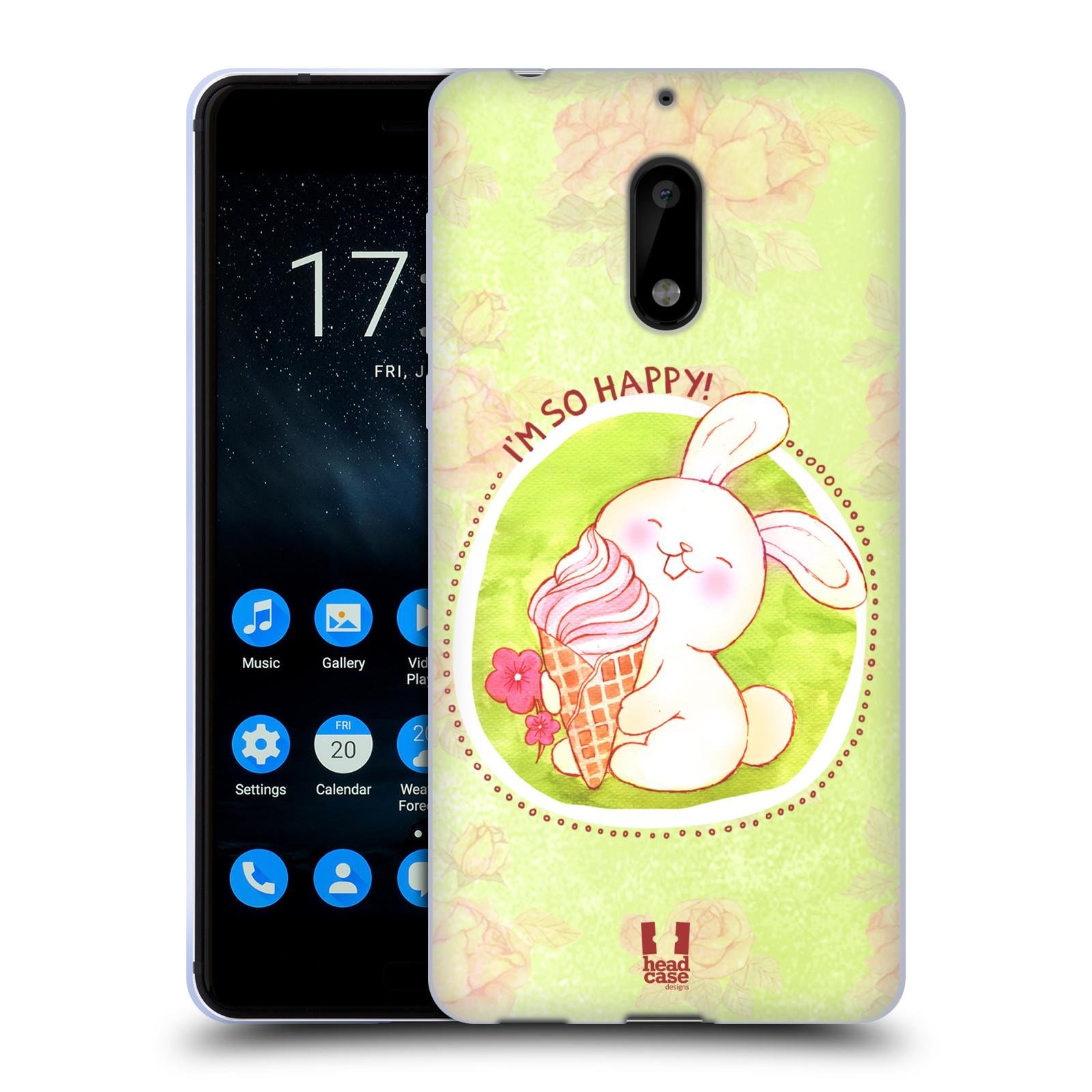 Silikonové pouzdro na mobil Nokia 6 - Head Case - KRÁLÍČEK A ZMRZKA