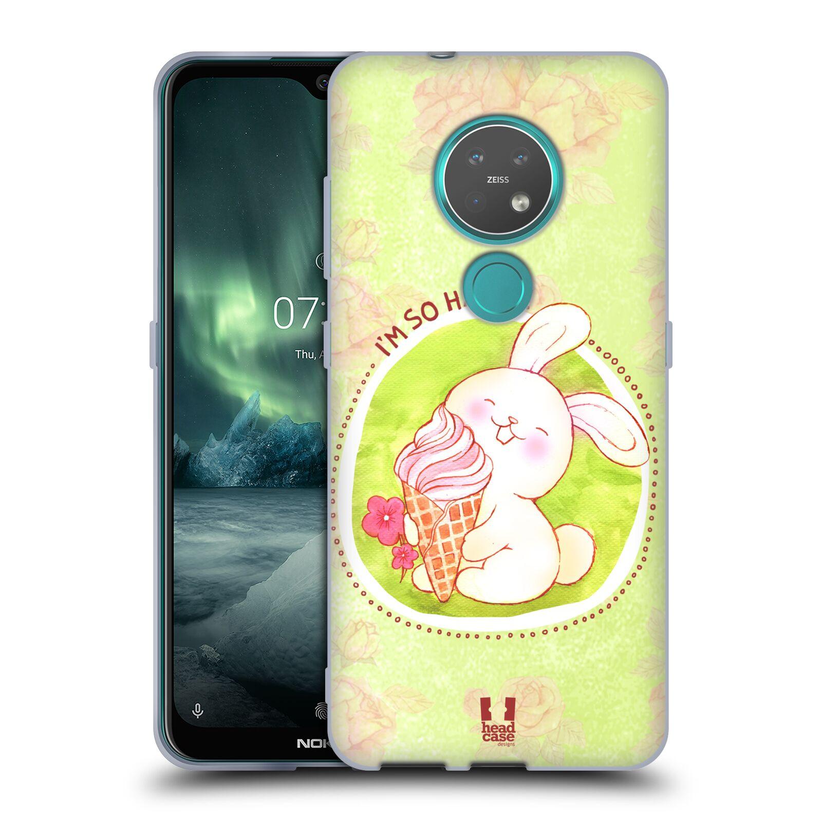 Silikonové pouzdro na mobil Nokia 7.2 - Head Case - KRÁLÍČEK A ZMRZKA