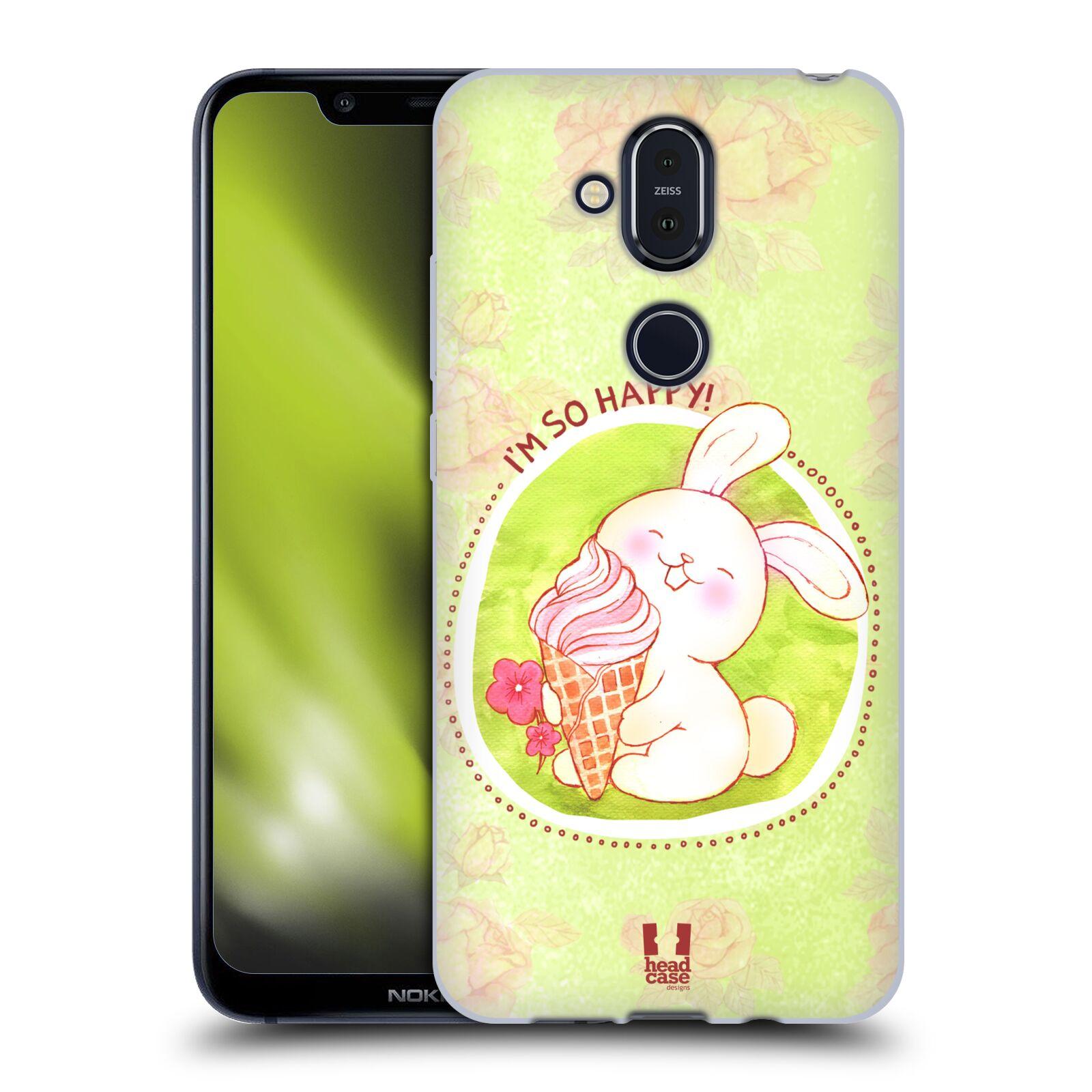 Silikonové pouzdro na mobil Nokia 8.1 - Head Case - KRÁLÍČEK A ZMRZKA