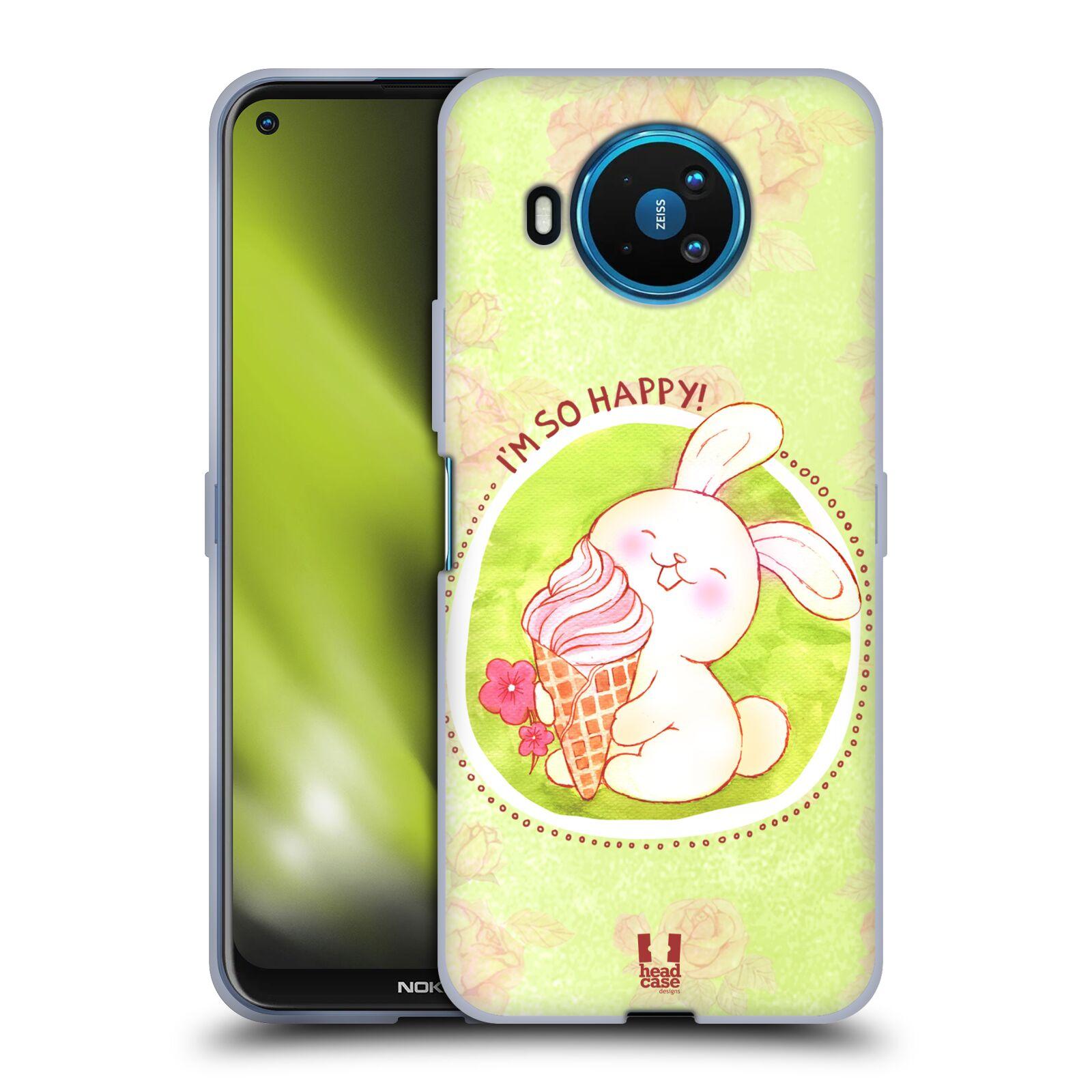 Silikonové pouzdro na mobil Nokia 8.3 5G - Head Case - KRÁLÍČEK A ZMRZKA