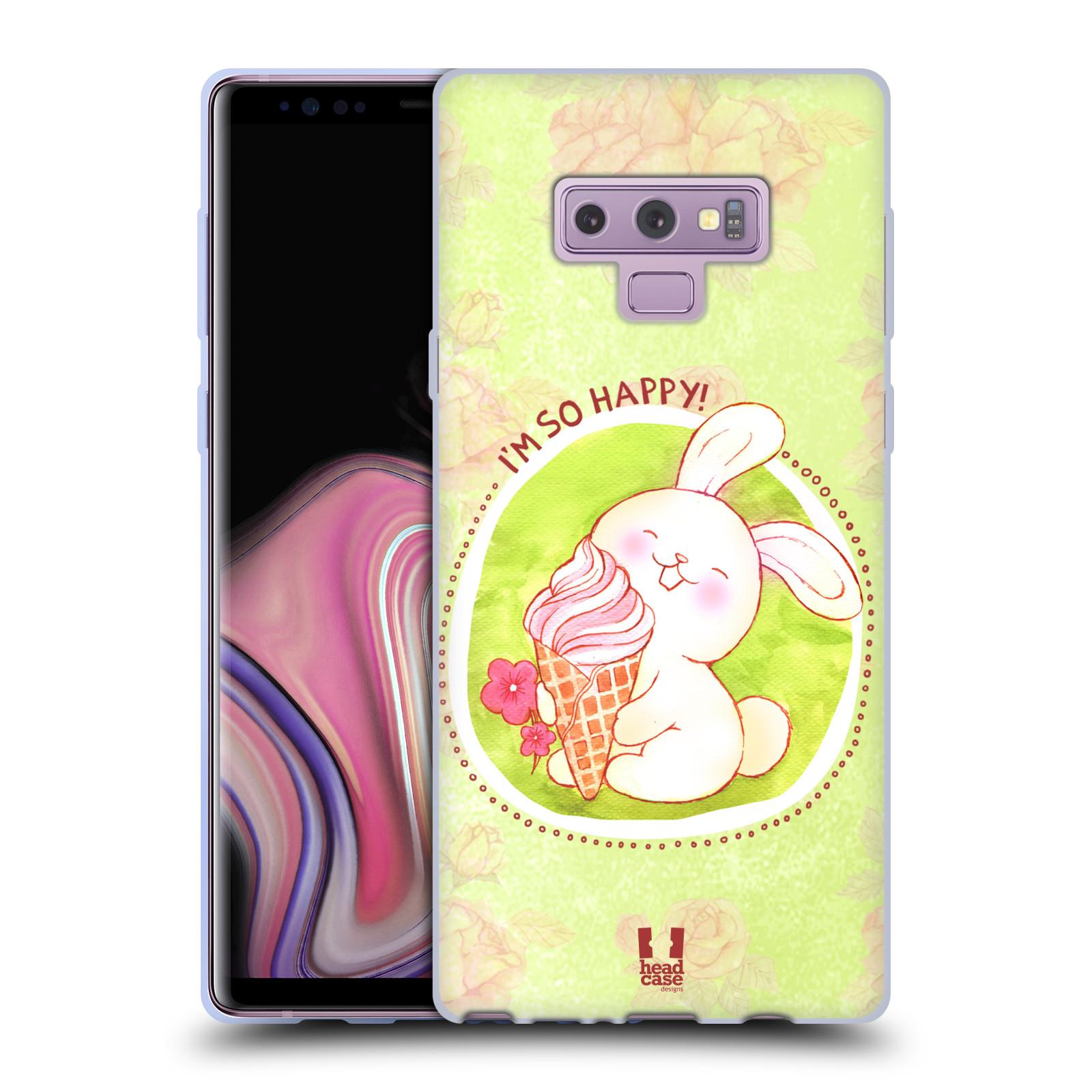 Silikonové pouzdro na mobil Samsung Galaxy Note 9 - Head Case - KRÁLÍČEK A ZMRZKA