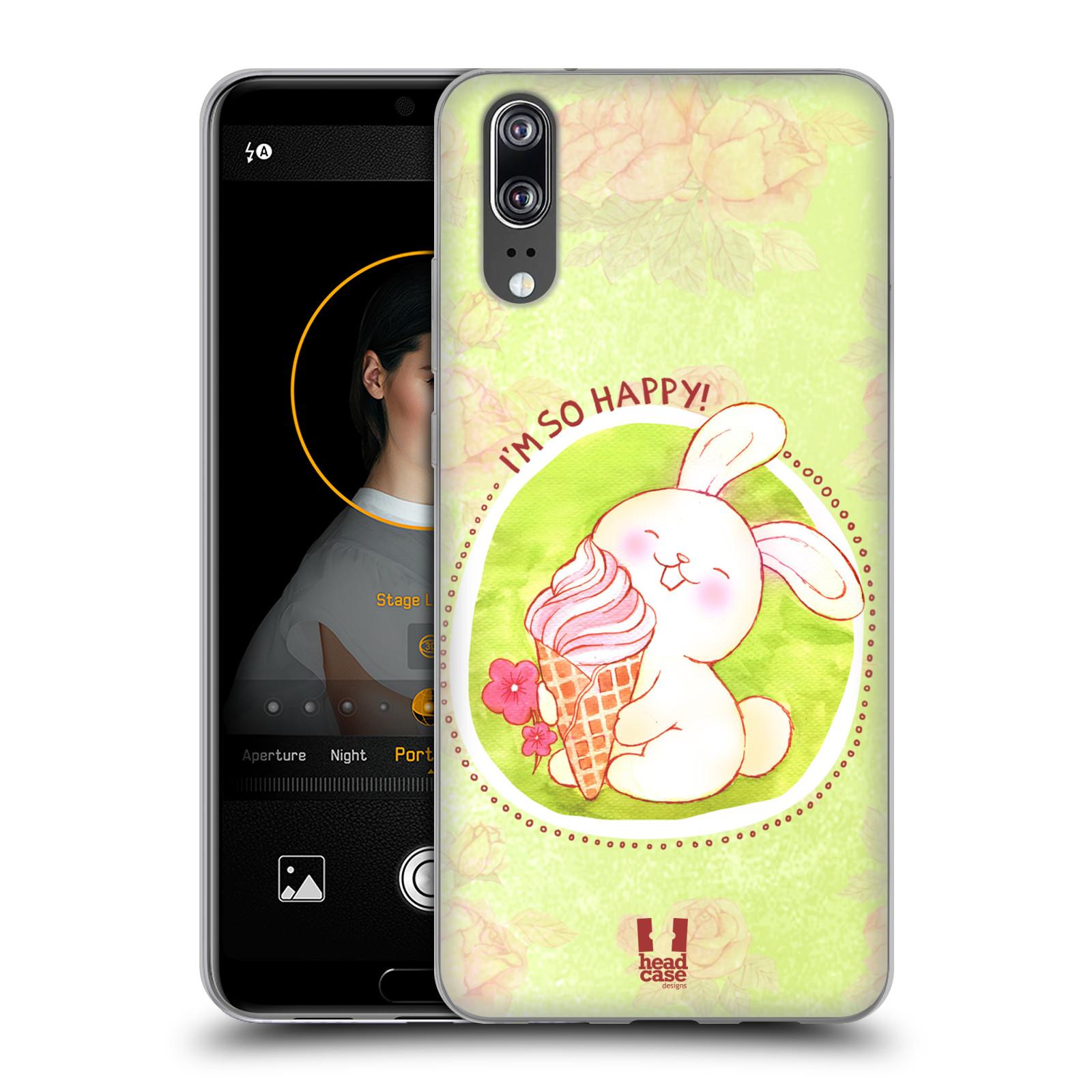 Silikonové pouzdro na mobil Huawei P20 - Head Case - KRÁLÍČEK A ZMRZKA