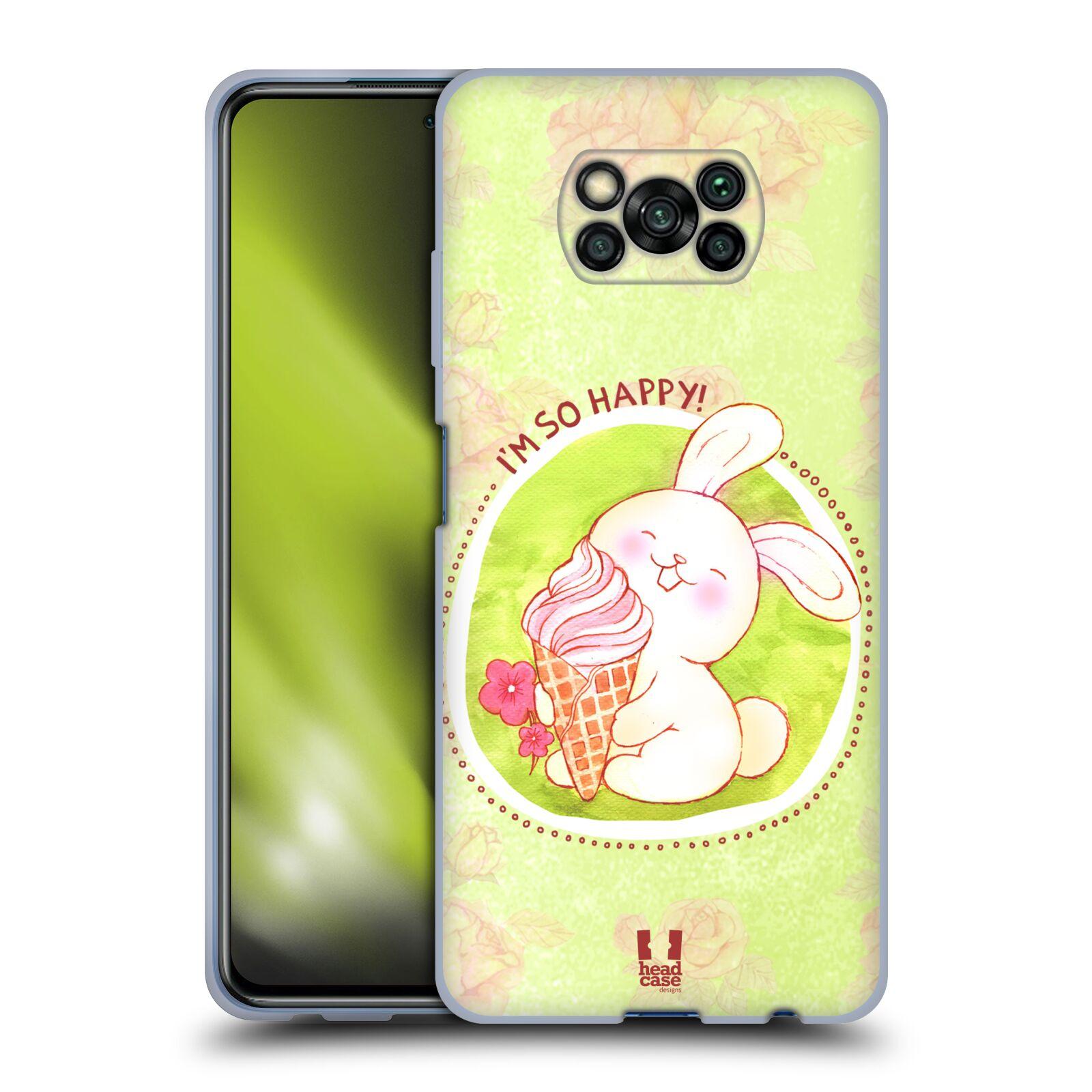 Silikonové pouzdro na mobil Xiaomi Poco X3 NFC - Head Case - KRÁLÍČEK A ZMRZKA