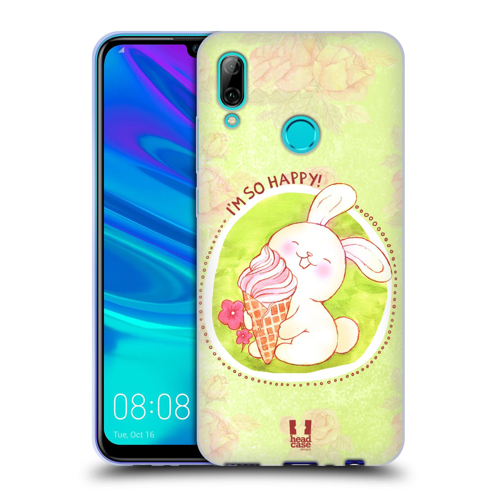 Silikonové pouzdro na mobil Huawei P Smart (2019) - Head Case - KRÁLÍČEK A ZMRZKA