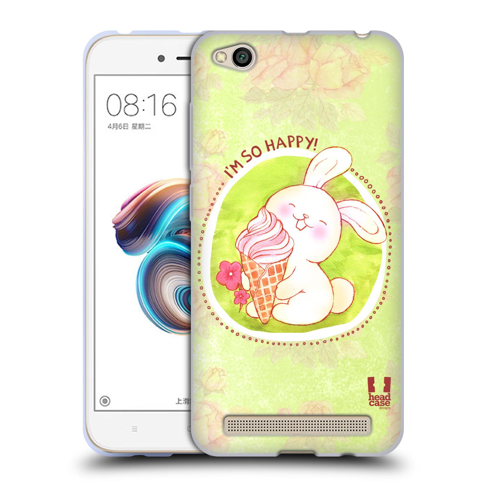 Silikonové pouzdro na mobil Xiaomi Redmi 5A - Head Case - KRÁLÍČEK A ZMRZKA