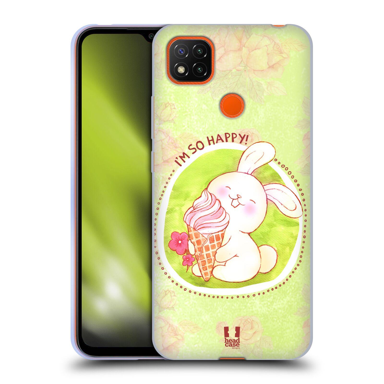 Silikonové pouzdro na mobil Xiaomi Redmi 9C - Head Case - KRÁLÍČEK A ZMRZKA