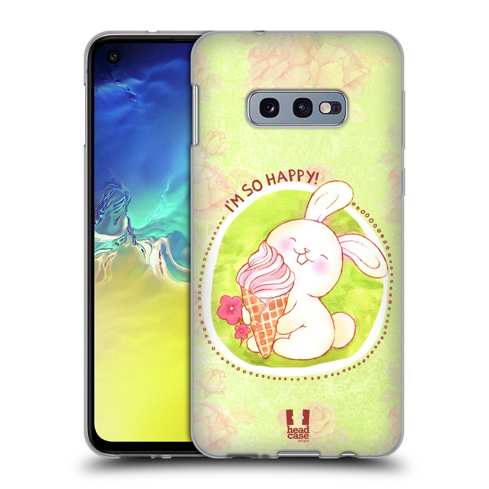 Silikonové pouzdro na mobil Samsung Galaxy S10e - Head Case - KRÁLÍČEK A ZMRZKA