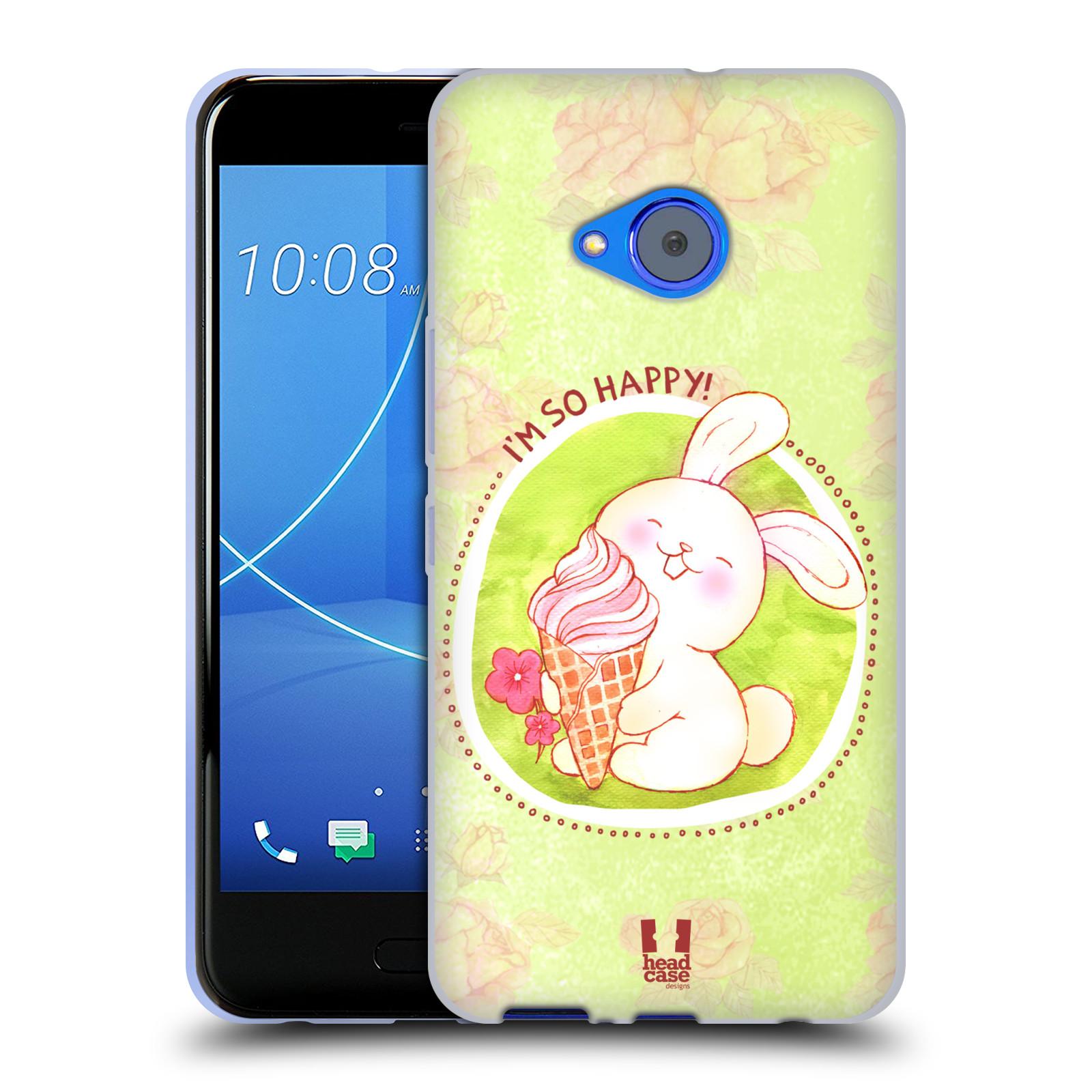 Silikonové pouzdro na mobil HTC U11 Life - Head Case - KRÁLÍČEK A ZMRZKA