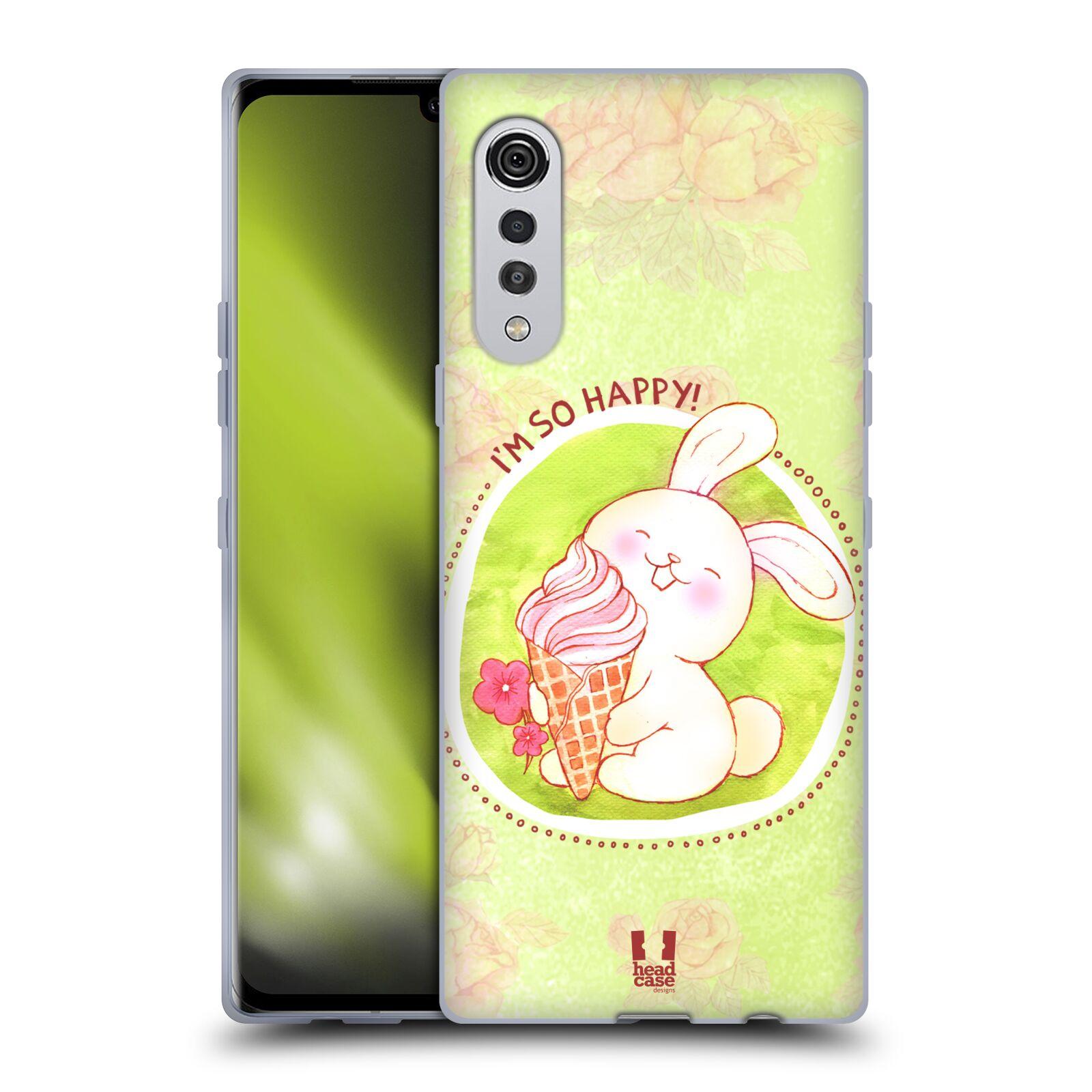 Silikonové pouzdro na mobil LG Velvet - Head Case - KRÁLÍČEK A ZMRZKA