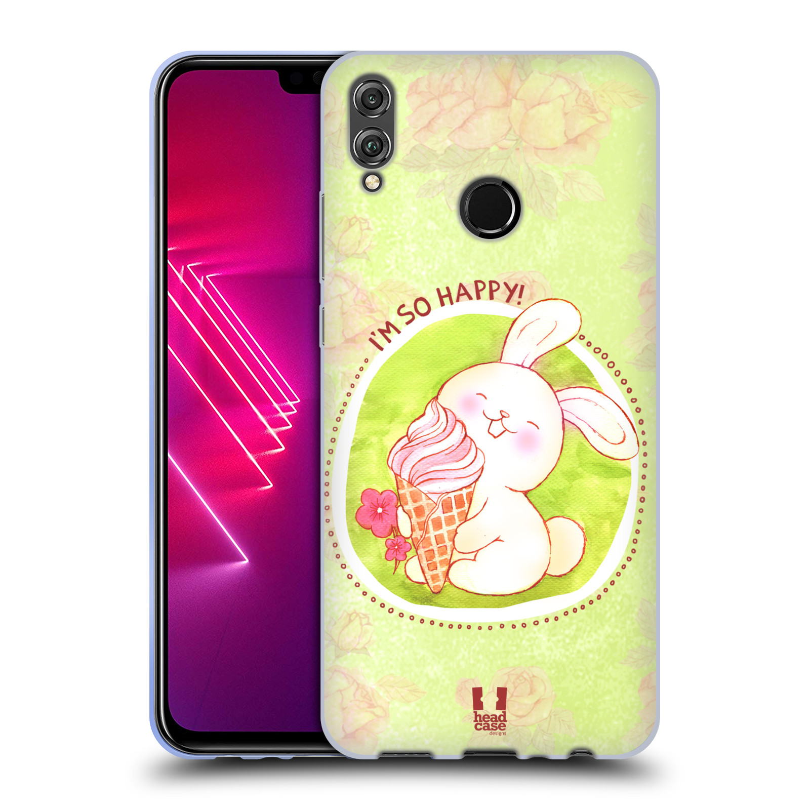 Silikonové pouzdro na mobil Honor View 10 Lite - Head Case - KRÁLÍČEK A ZMRZKA