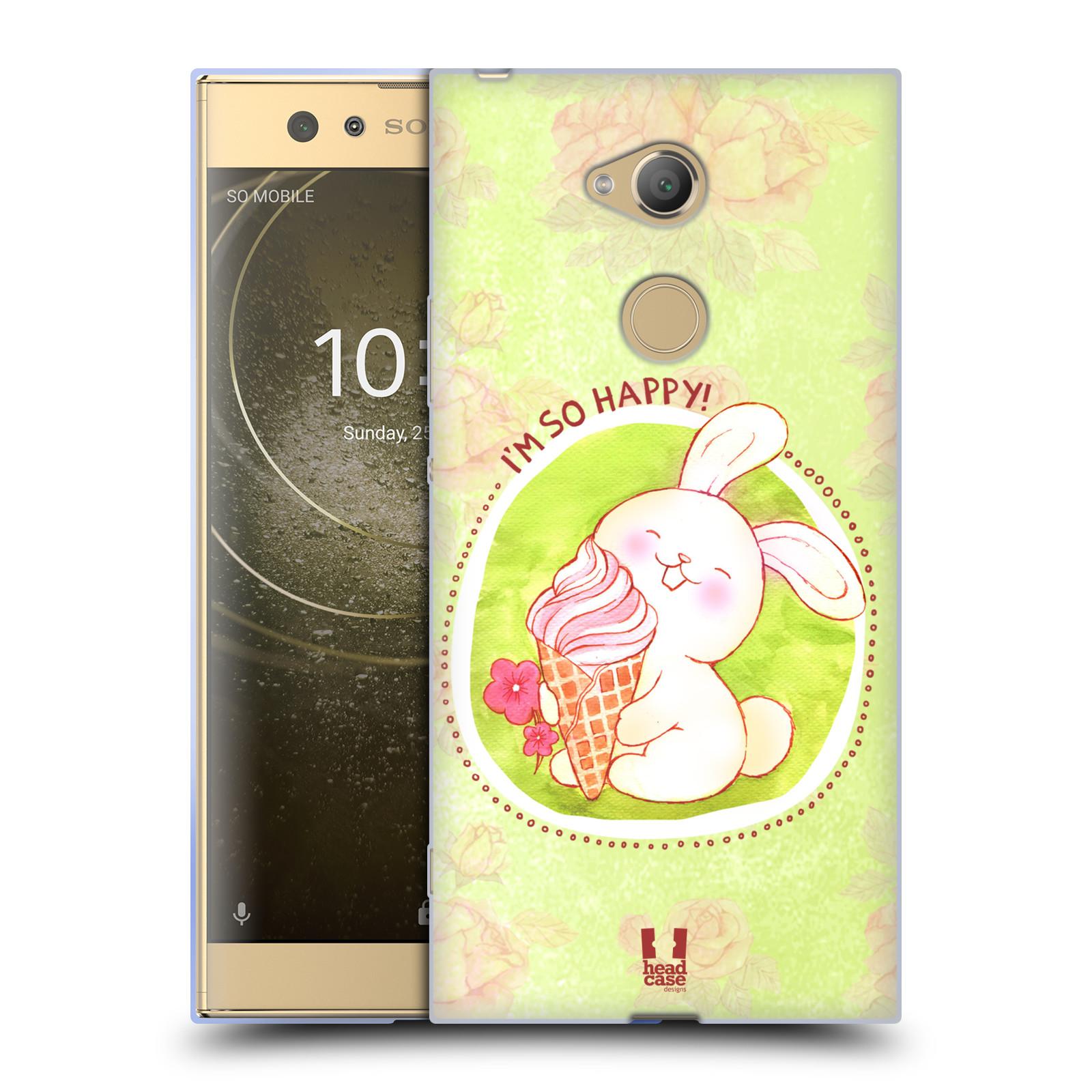 Silikonové pouzdro na mobil Sony Xperia XA2 Ultra - Head Case - KRÁLÍČEK A ZMRZKA