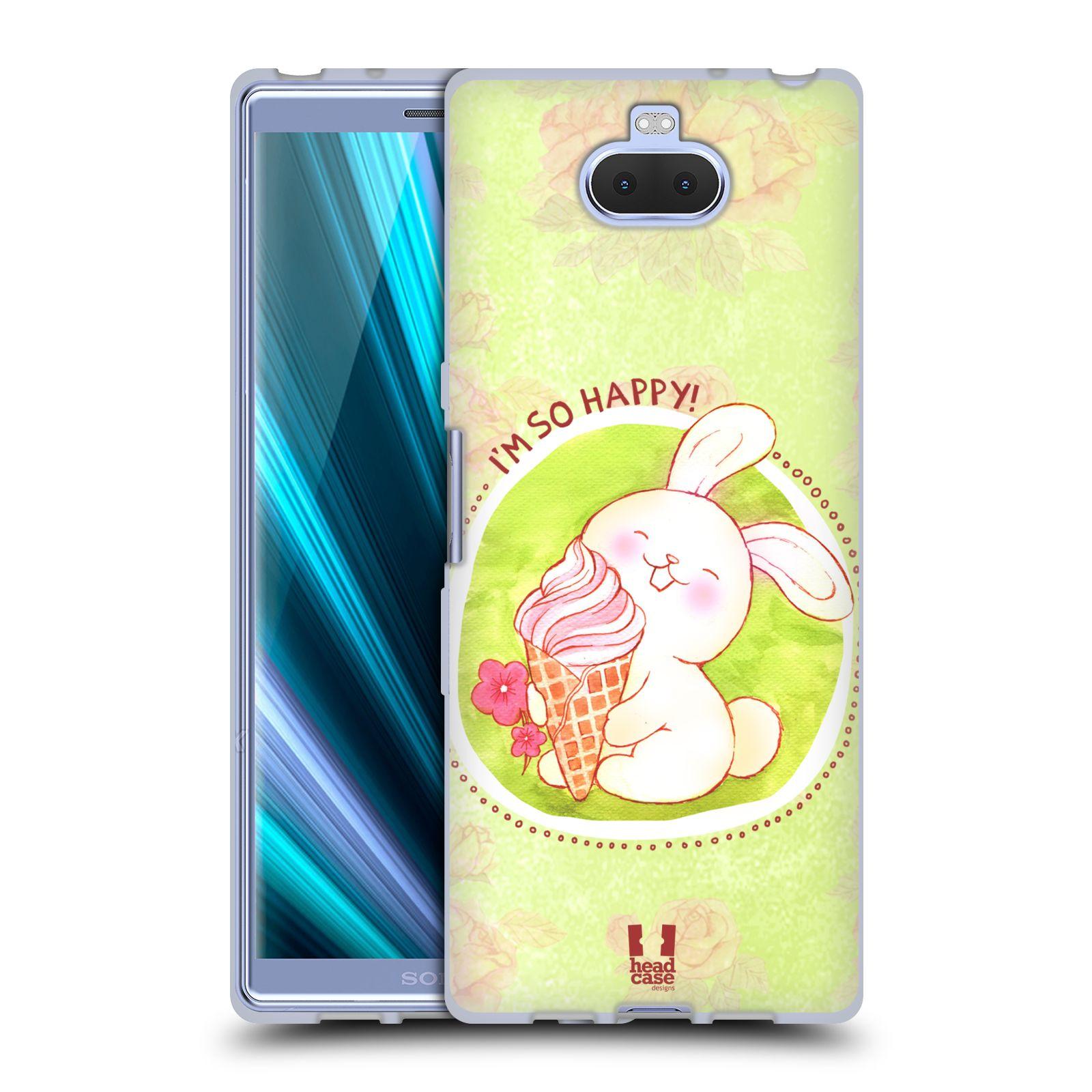 Silikonové pouzdro na mobil Sony Xperia 10 - Head Case - KRÁLÍČEK A ZMRZKA