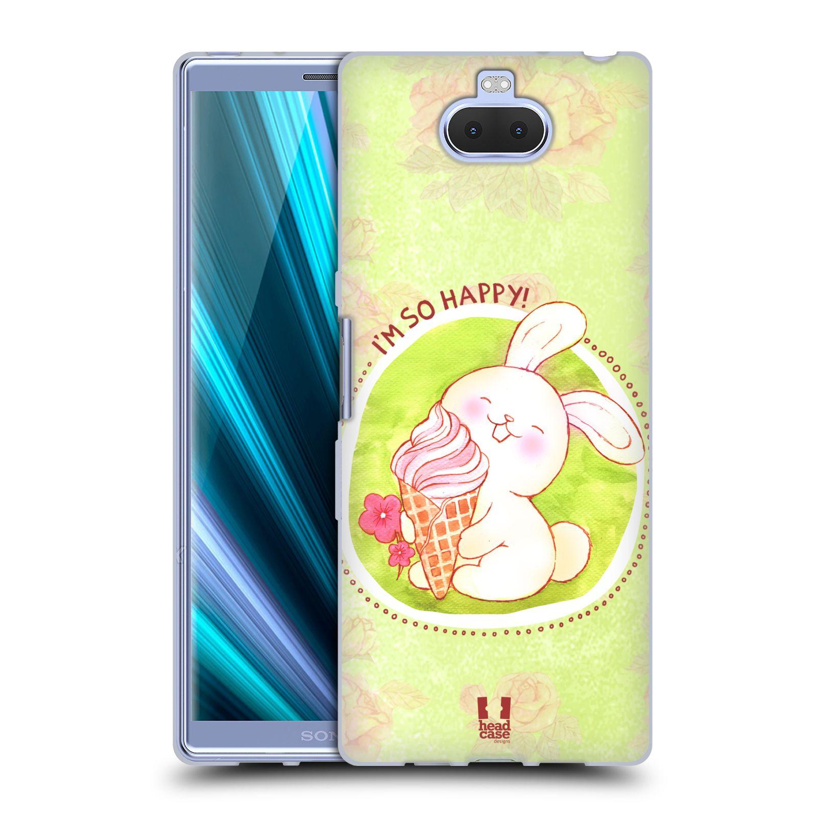 Silikonové pouzdro na mobil Sony Xperia 10 Plus - Head Case - KRÁLÍČEK A ZMRZKA