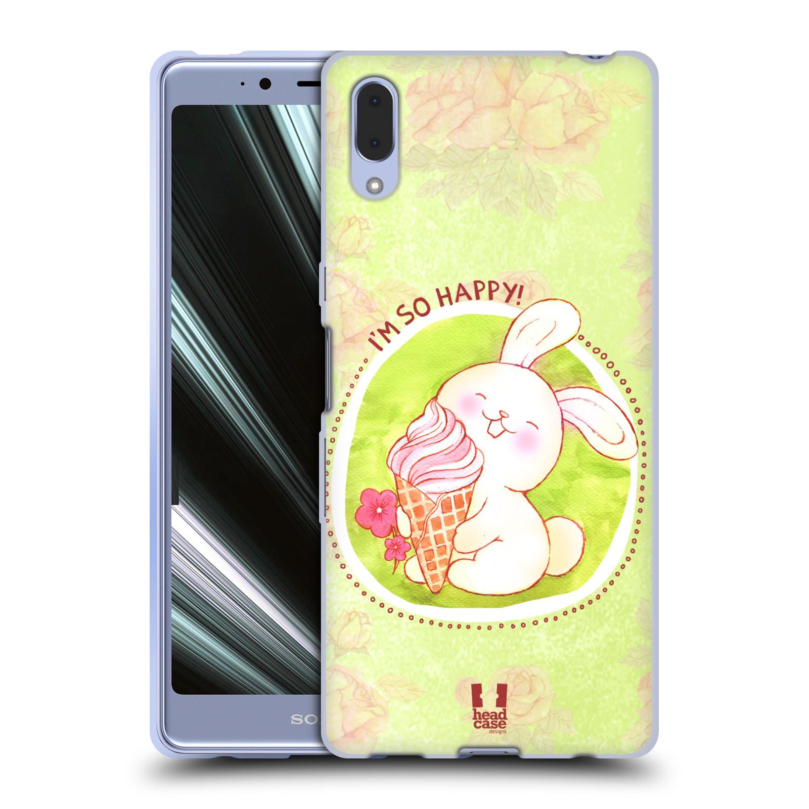 Silikonové pouzdro na mobil Sony Xperia L3 - Head Case - KRÁLÍČEK A ZMRZKA